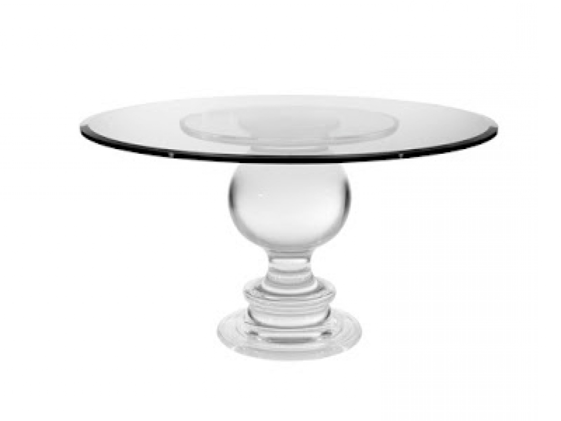 Acrylic Round Dining Tables Regarding Widely Used Acrylic Round Dining Table Philippe Round Acrylic Dining Table (View 4 of 25)