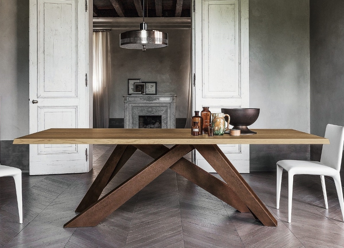 Alain Gilles Big Table For Bonaldo, Italy With Latest Dining Tables With Large Legs (View 12 of 25)