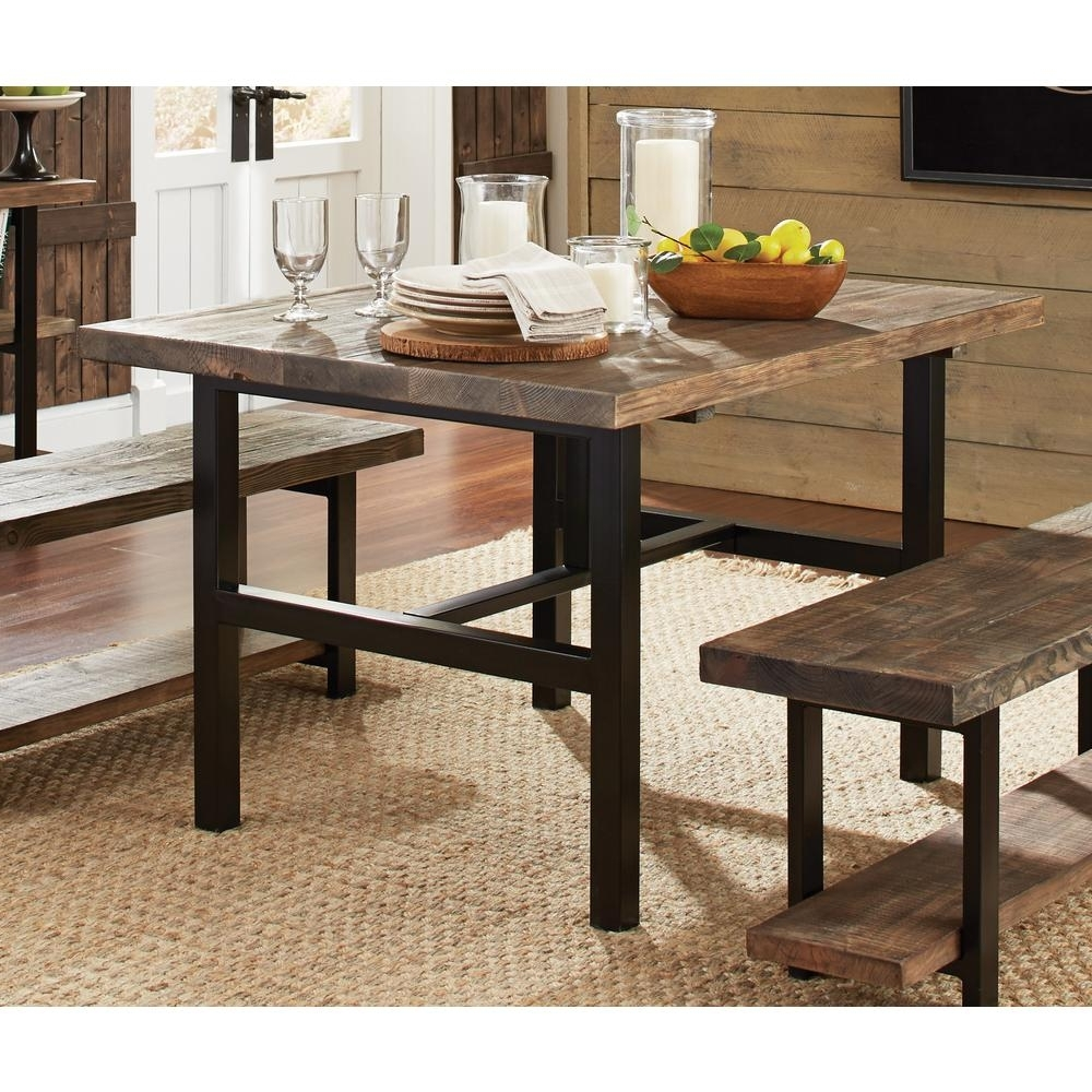 Alaterre Furniture Pomona Rustic Natural Dining Table Amba1720 – The Pertaining To Widely Used Mango Wood/iron Dining Tables (View 2 of 25)