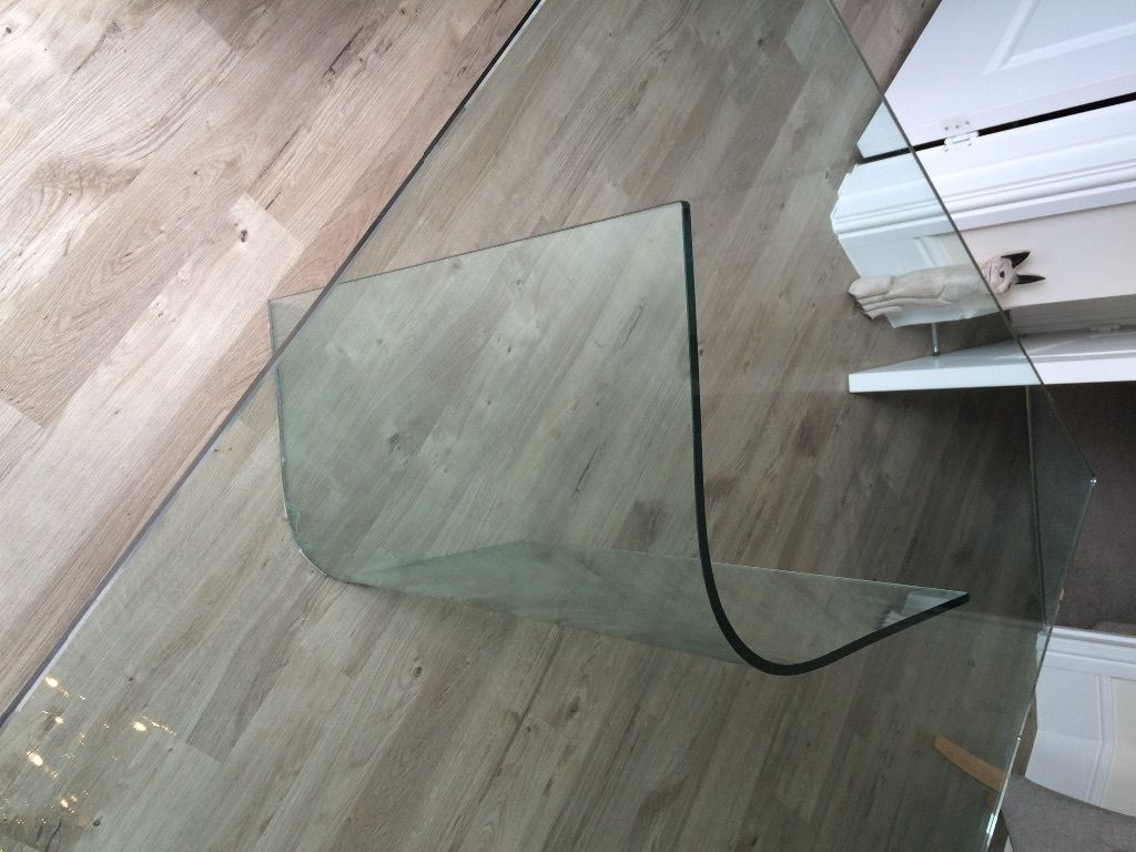 All Glass Dining Table With Curved Glass Legs (Gallery 13 of 25)