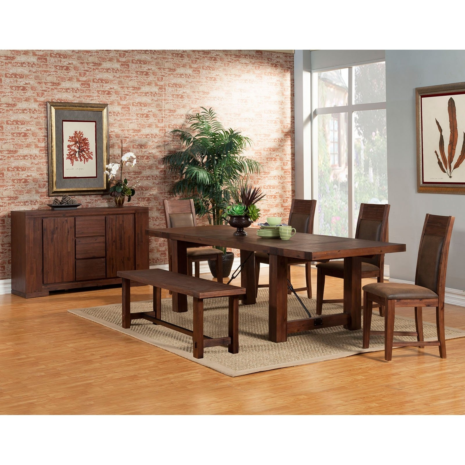 Alpine Furniture Granada 7 Piece Dining Table Set (View 4 of 25)