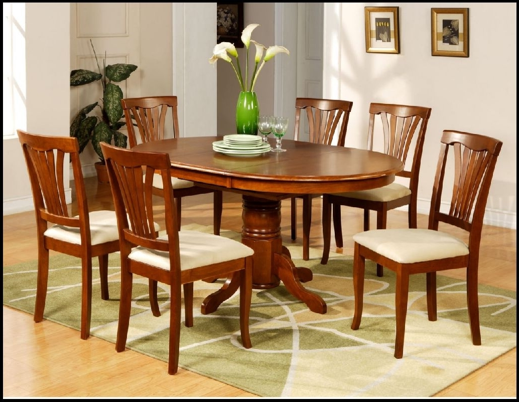 Amazing Dining Table Set With Bench With Kitchen Dinette Sets For With Regard To Most Recent Oval Dining Tables For Sale (View 5 of 25)