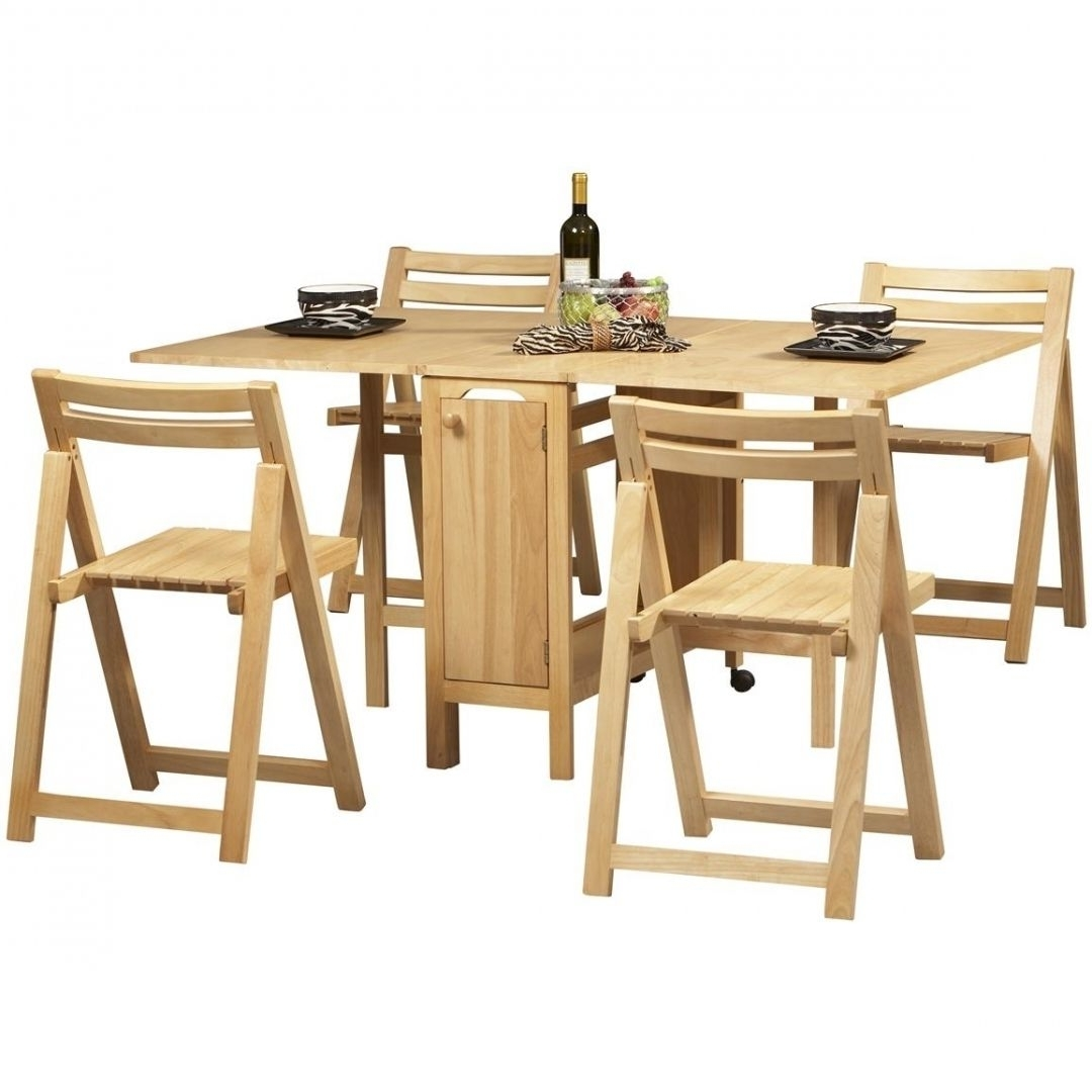 Amazing Folding Dining Table And Chairs Set Furnishings In Home Regarding Famous Folding Dining Table And Chairs Sets (View 24 of 25)