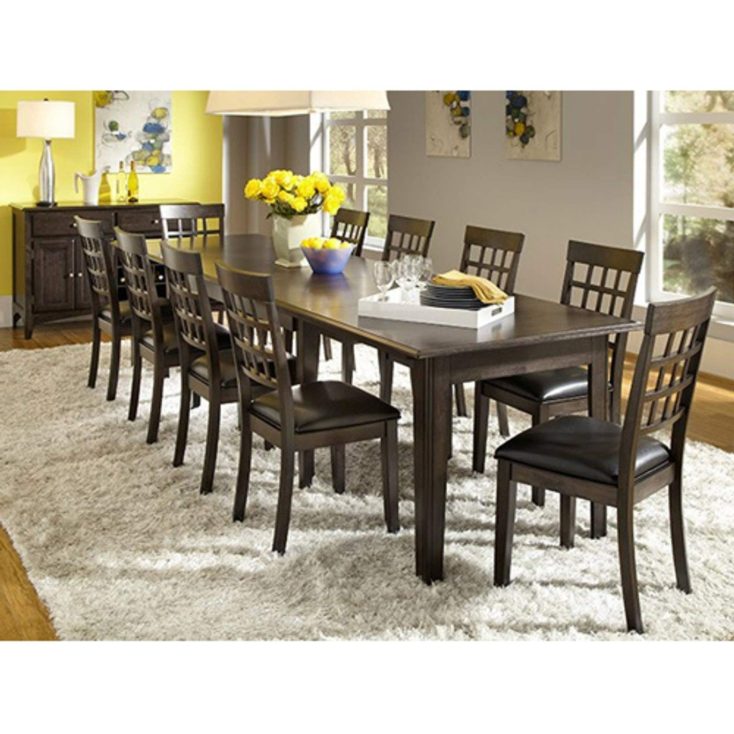 "Amazon: A America Bristol Point 132"" Rectangular Dining Table Pertaining To Most Popular Dining Tables Grey Chairs (View 25 of 25)"