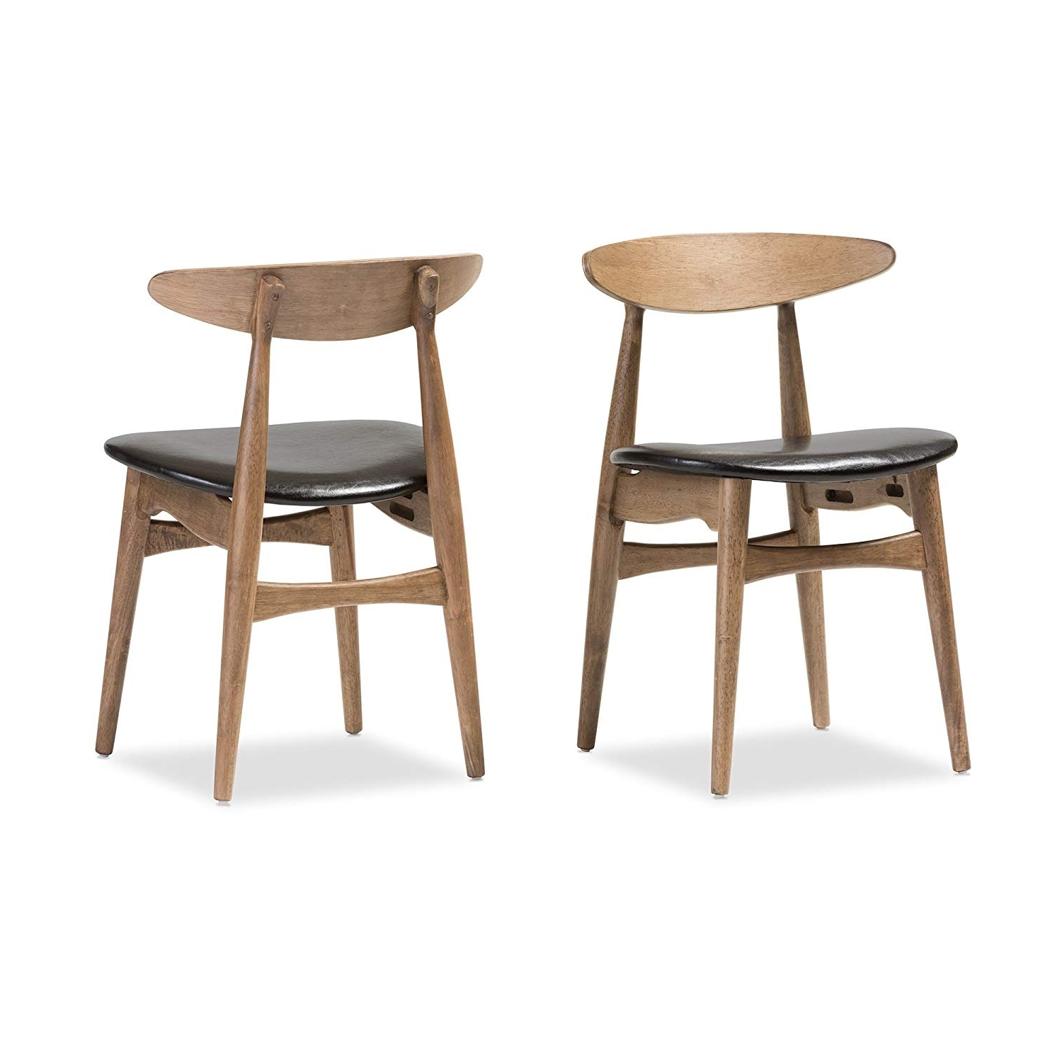 Amazon – Baxton Studio Set Of 2 Juliette Mid Century Modern Within Well Known Second Hand Oak Dining Chairs (View 17 of 25)