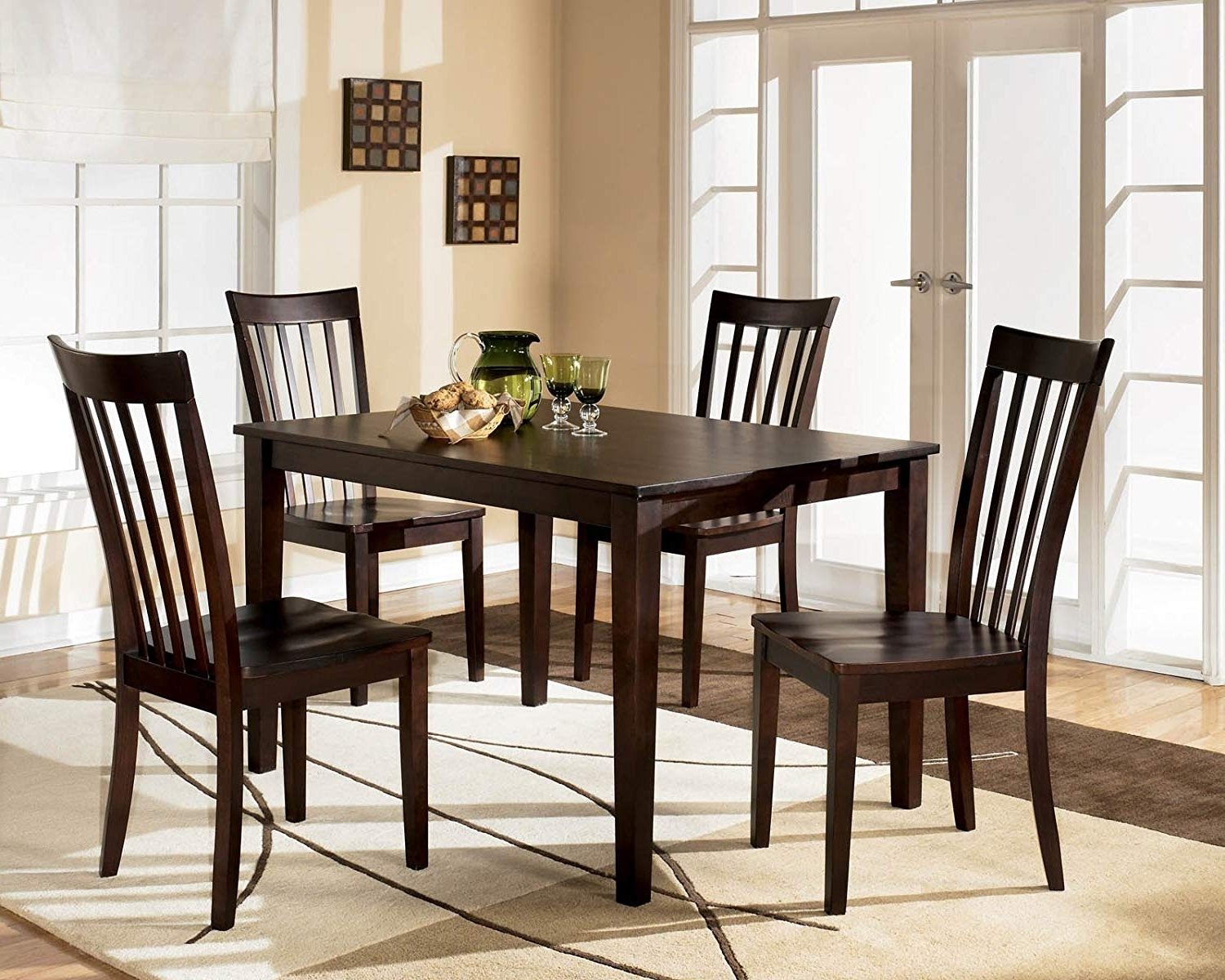 Amazon – Contemporary Hyland 5 Piece Dining Set – Table & Chair Sets Throughout Most Up To Date Hyland 5 Piece Counter Sets With Stools (View 3 of 25)