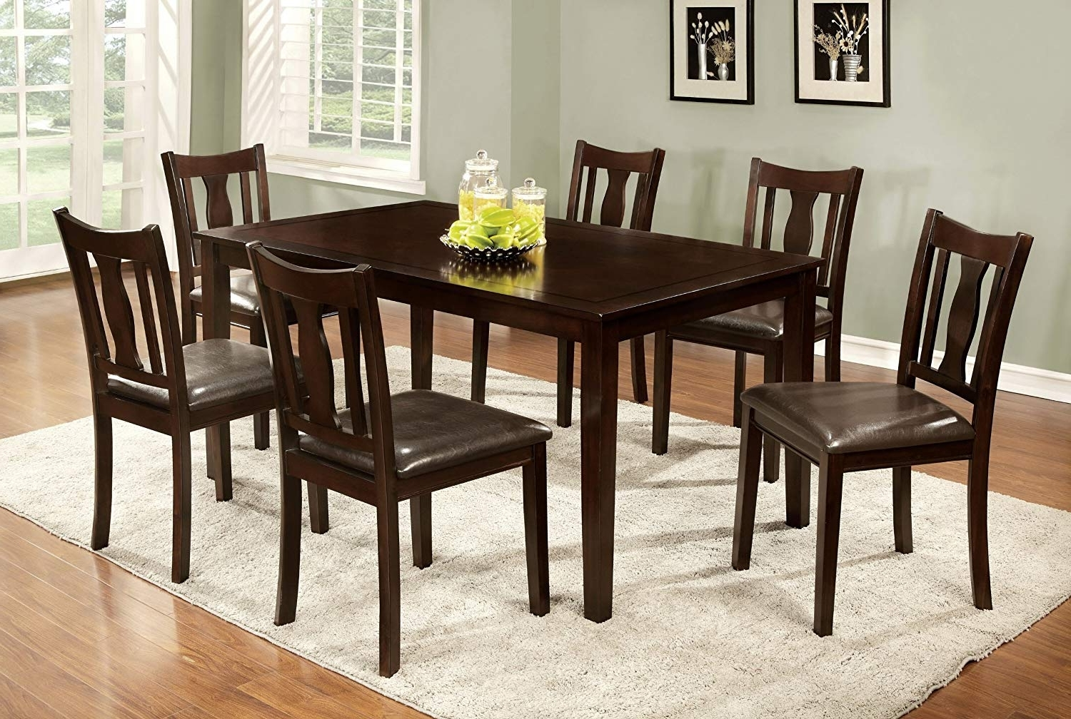 Amazon – Furniture Of America Northvale I Dining Table Set With Regard To Current Laurent 7 Piece Rectangle Dining Sets With Wood Chairs (View 5 of 25)