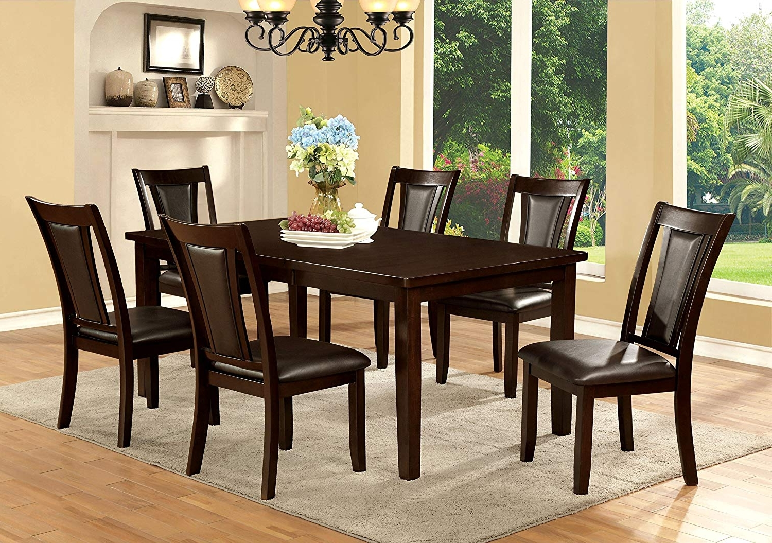 Amazon – Furniture Of America Simone 7 Piece Contemporary Dining Inside Newest Crawford 6 Piece Rectangle Dining Sets (View 2 of 25)