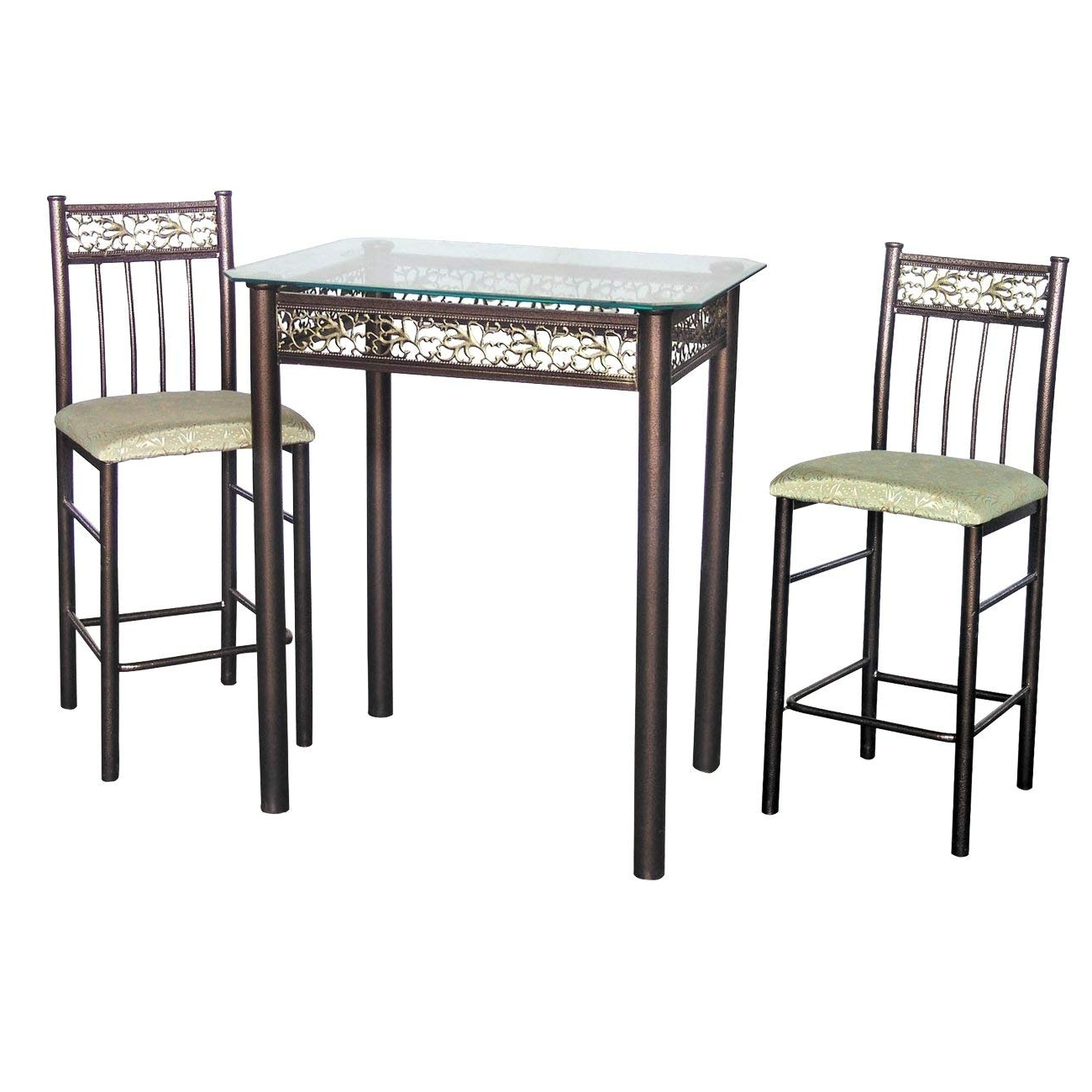 Amazon: Home Source Industries 3 Piece Bronza Bistro Counter For Widely Used Valencia 3 Piece Counter Sets With Bench (View 14 of 25)