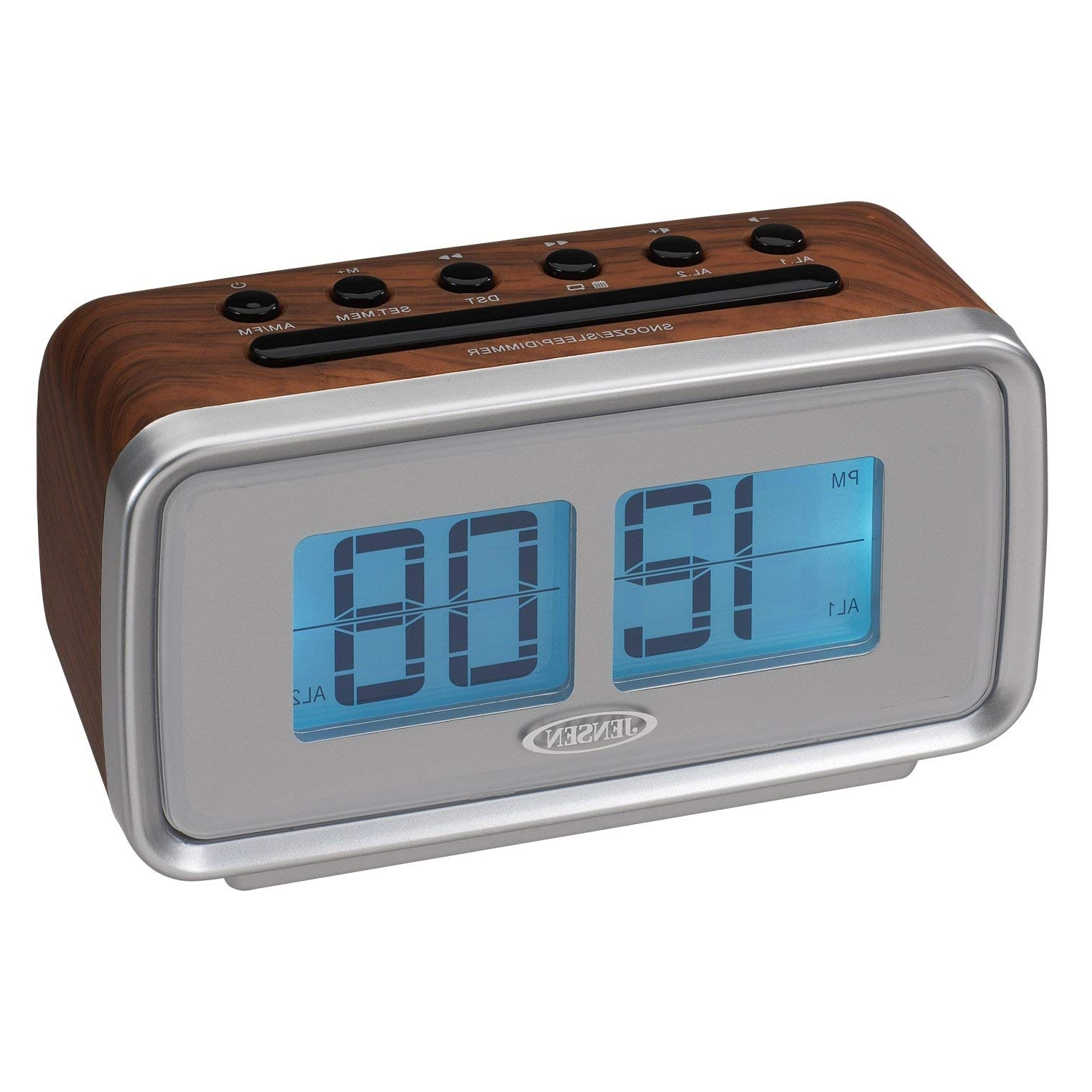 Amazon: Jensen Jcr 232 Am/fm Dual Alarm Clock With Digital Retro Pertaining To Well Known Jensen 5 Piece Counter Sets (View 16 of 25)