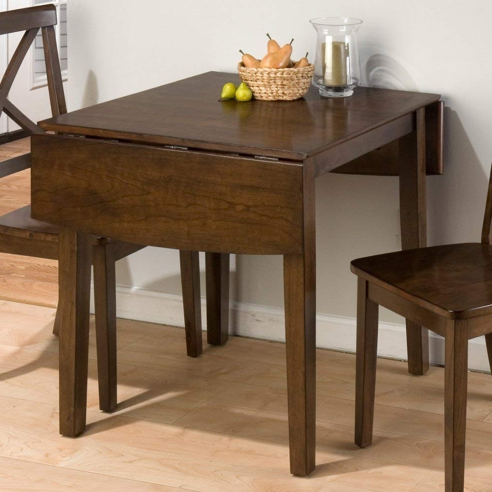 Amazon – Jofran Double Drop Leaf Dining Table In Taylor Brown Intended For Best And Newest Two Chair Dining Tables (Gallery 21 of 25)