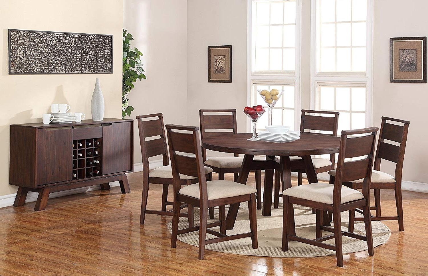 Amazon: Modus Furniture 7Z4861 Portland Solid Wood Round Dining Within Newest Portland 78 Inch Dining Tables (View 3 of 25)