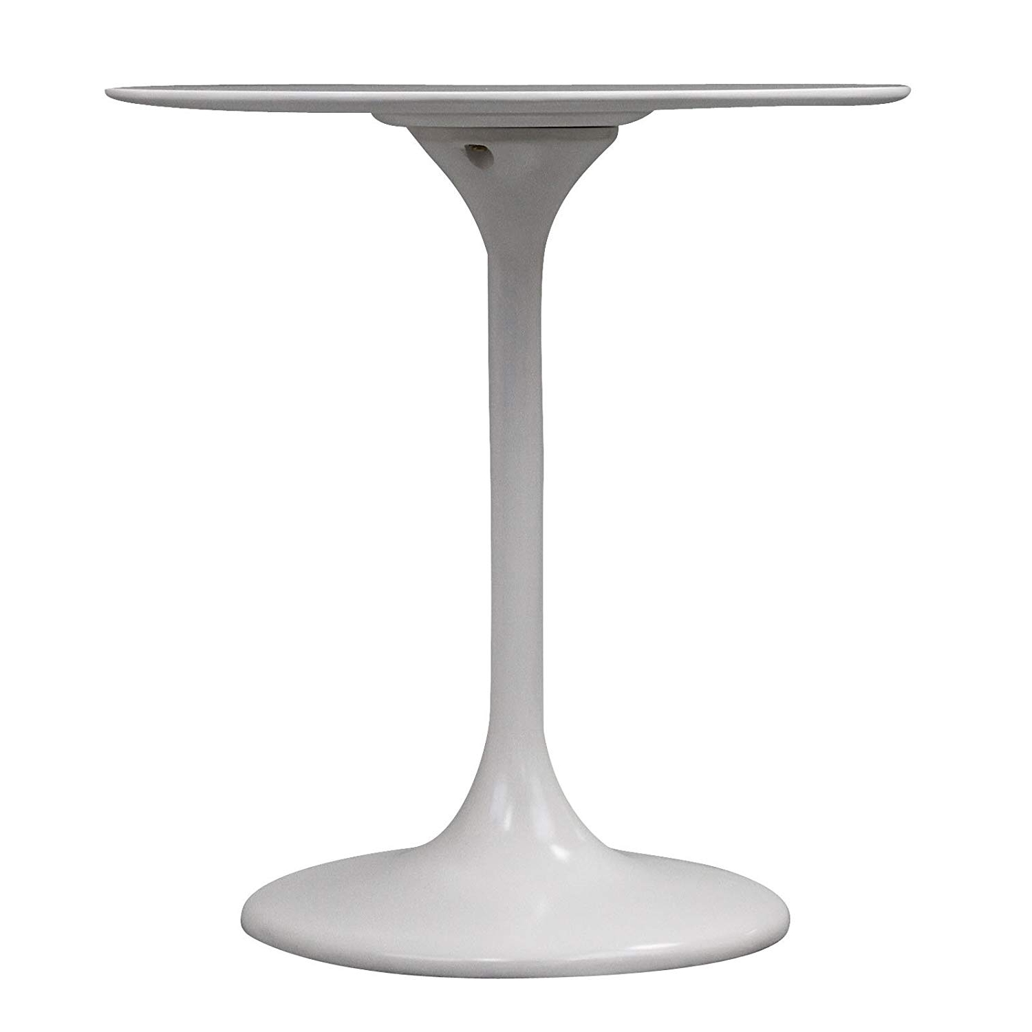 Amazon – Modway Lippa 28 Inch Fiber Glass Dining Table, White Within Most Current White Circular Dining Tables (Gallery 16 of 25)