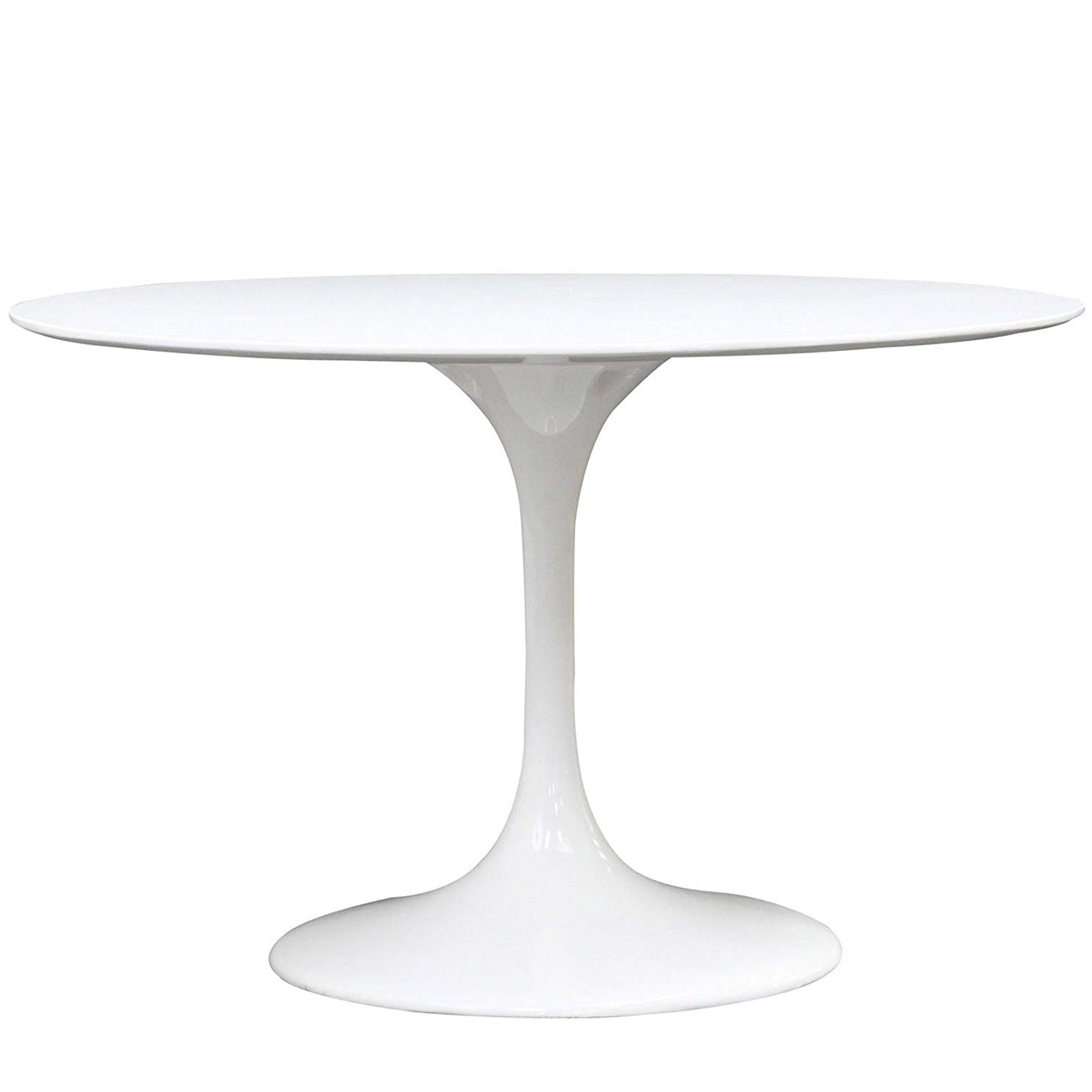 "Amazon: Modway Lippa 47"" Round Dining Table In White: Kitchen With Regard To Trendy White Circle Dining Tables (View 15 of 25)"