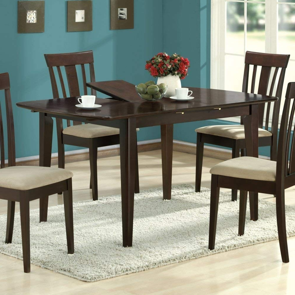 Amazon – Monarch Specialties Dining Table With 12 Inch Butterfly Throughout Best And Newest Logan 6 Piece Dining Sets (Gallery 16 of 25)