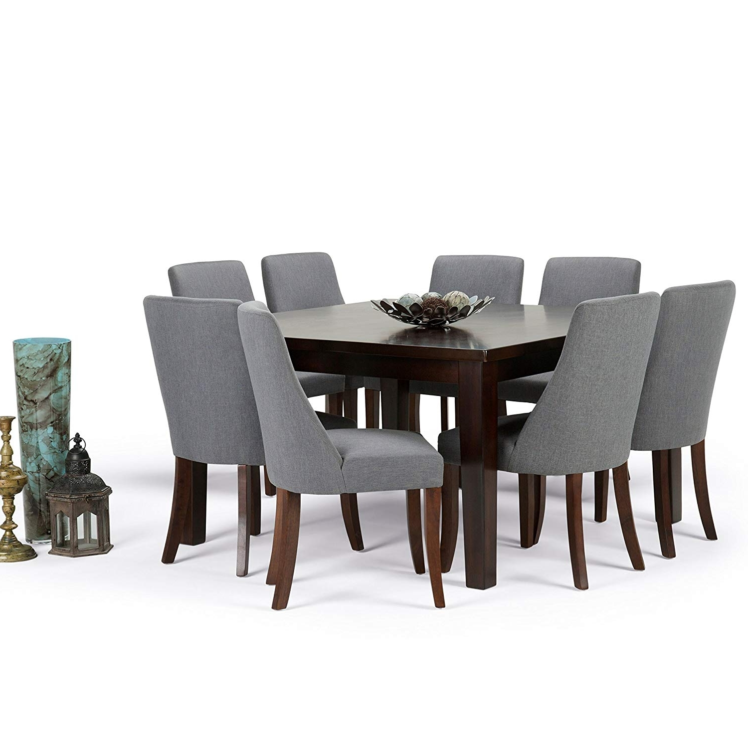 Amazon: Simpli Home Walden 9 Piece Dining Set, Slate Grey Throughout Widely Used Walden 9 Piece Extension Dining Sets (View 4 of 25)