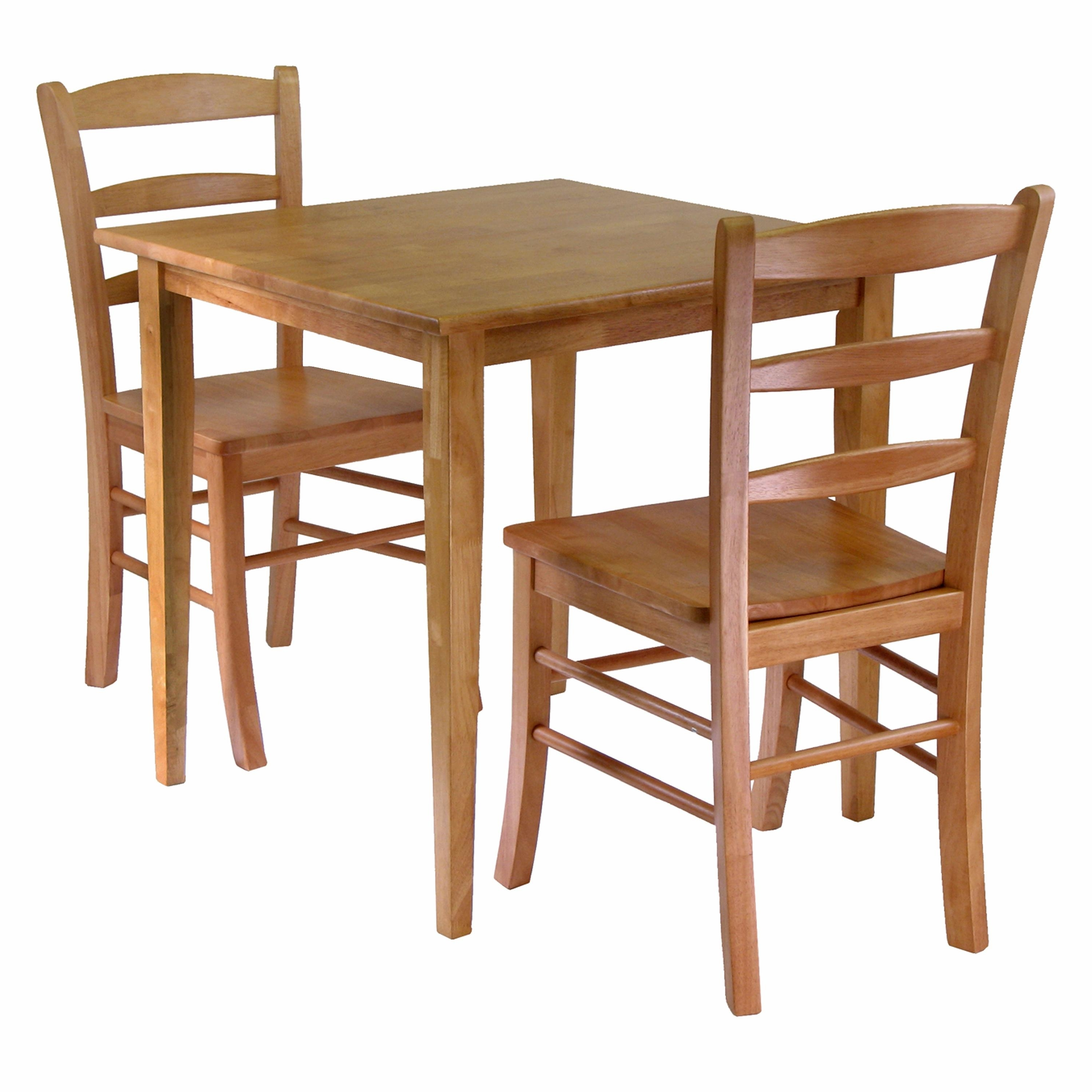 Amazon – Winsome Groveland 3 Piece Wood Dining Set, Light Oak With Regard To Preferred Market 5 Piece Counter Sets (View 8 of 25)