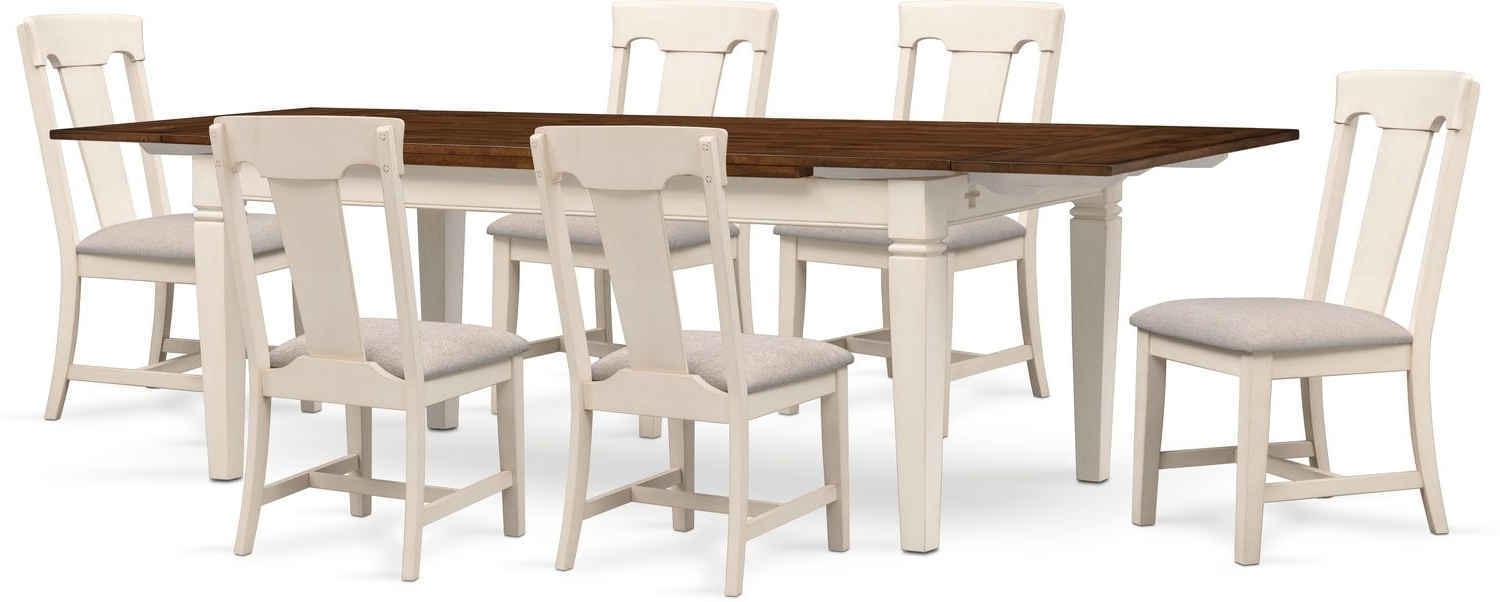 American Signature Intended For Current White Dining Tables With 6 Chairs (Gallery 17 of 25)