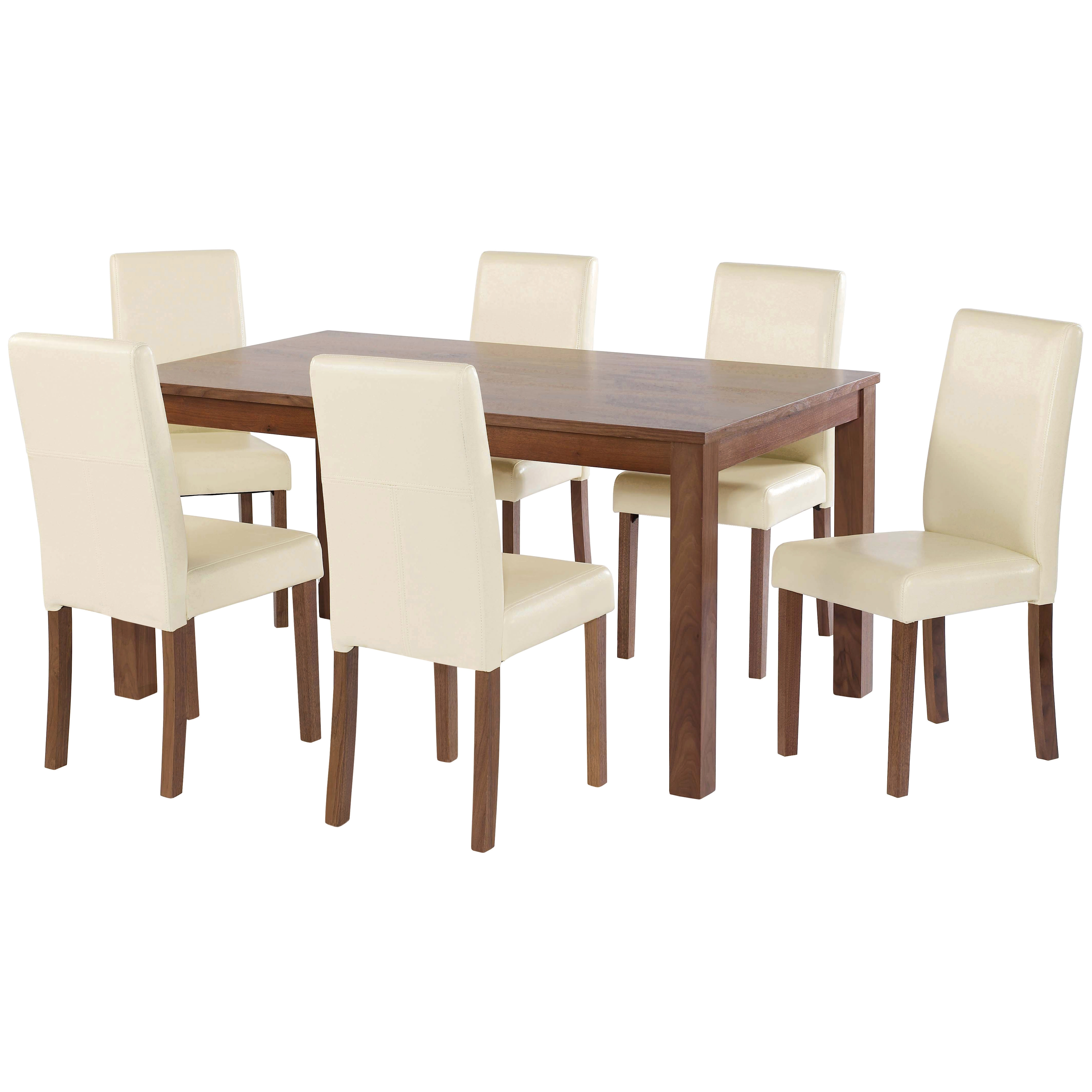 American Walnut Dining Table And Chair Set With 4/6 Seat (View 5 of 25)