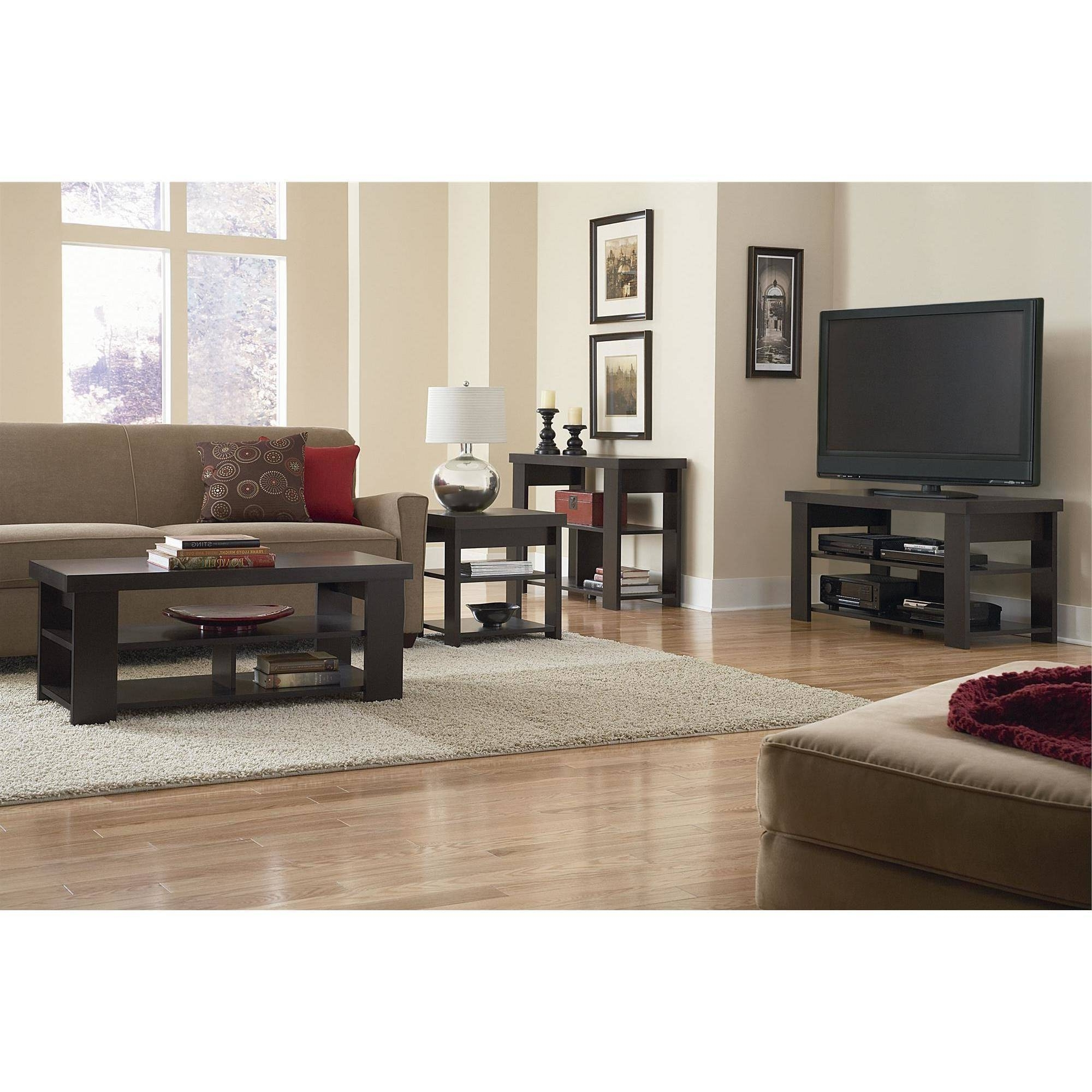 Ameriwood Home Jensen Coffee Table, Multiple Colors – Walmart Throughout Best And Newest Jensen 5 Piece Counter Sets (View 11 of 25)