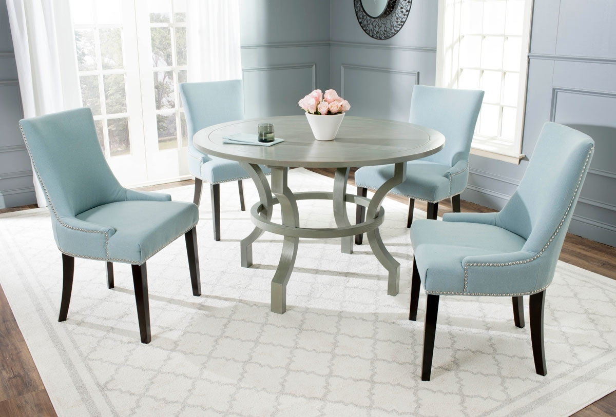 Amh6644B Dining Tables – Furnituresafavieh With Well Known Dining Tables Grey Chairs (View 23 of 25)