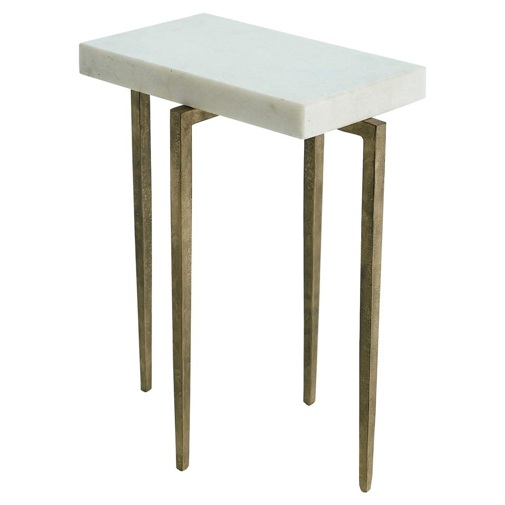Angel Modern Classic Rectangular White Marble Antique Gold Metal For Newest Caden Rectangle Dining Tables (View 2 of 25)