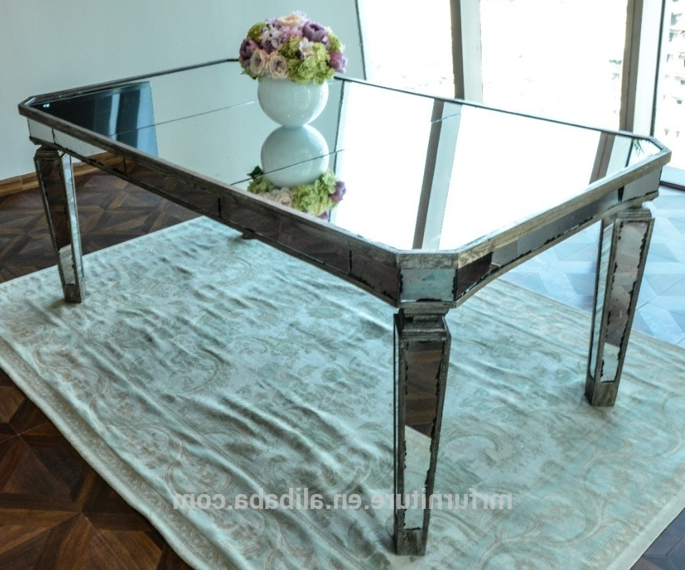 Antique Mirror Dining Tables In Well Known Antique Mirrored Dining Table  – Buy Wooden Frame Mirror Dining (Gallery 1 of 25)