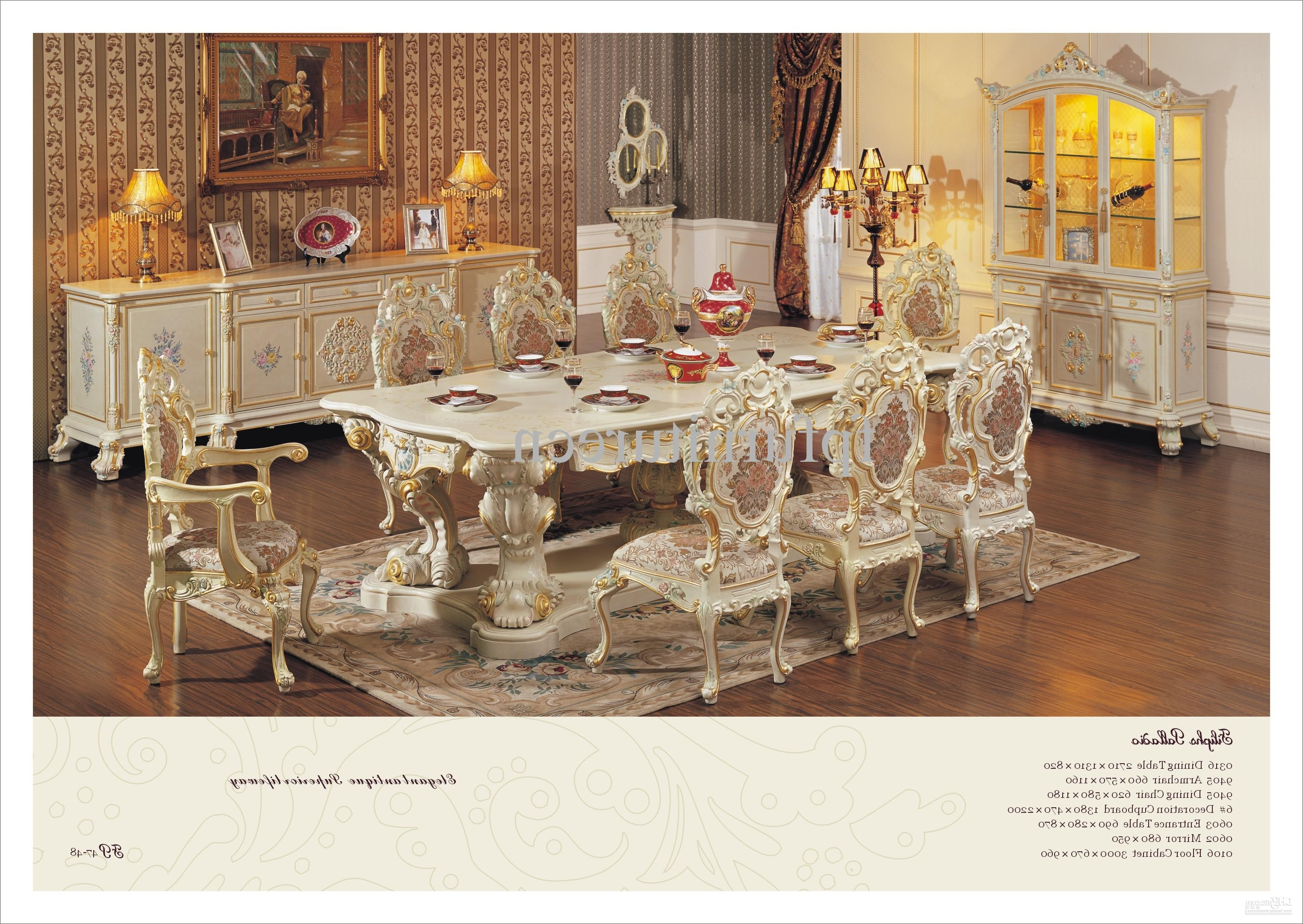 Antique Mirror Dining Tables Throughout Recent Hand Carving Leaf Gilding Dining Room Set,antique Classic (Gallery 21 of 25)