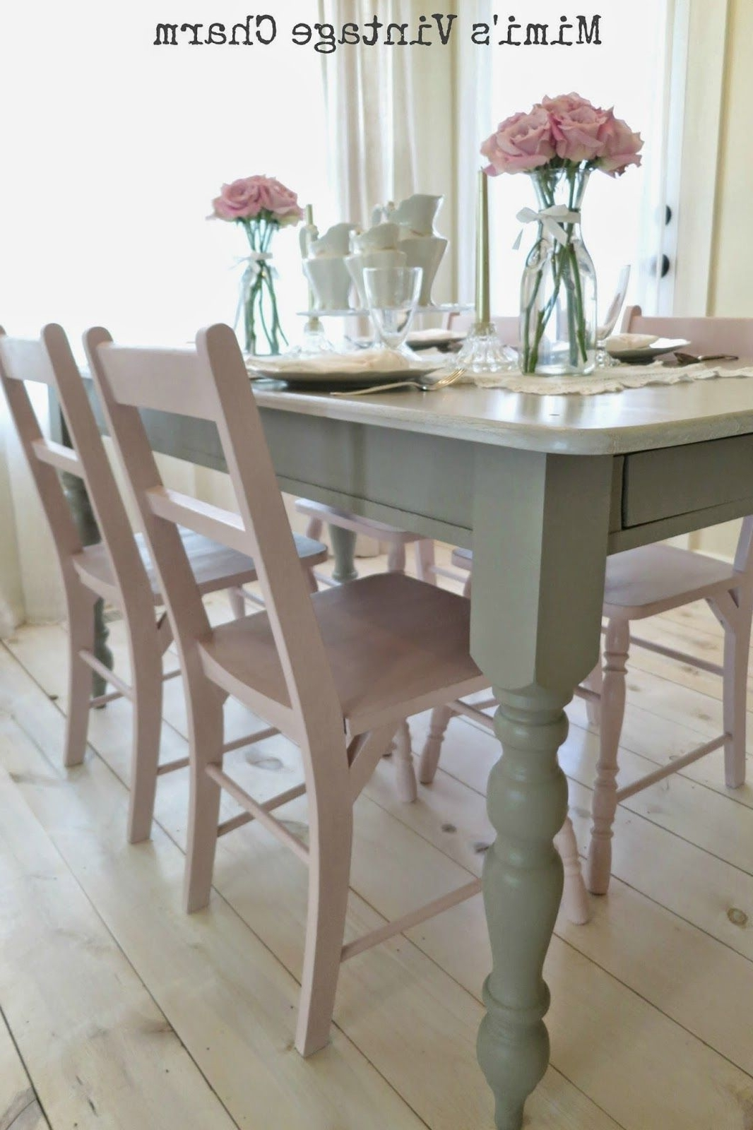 Antoinette Dining Room Chairs French Linen Table (Gallery 8 of 25)