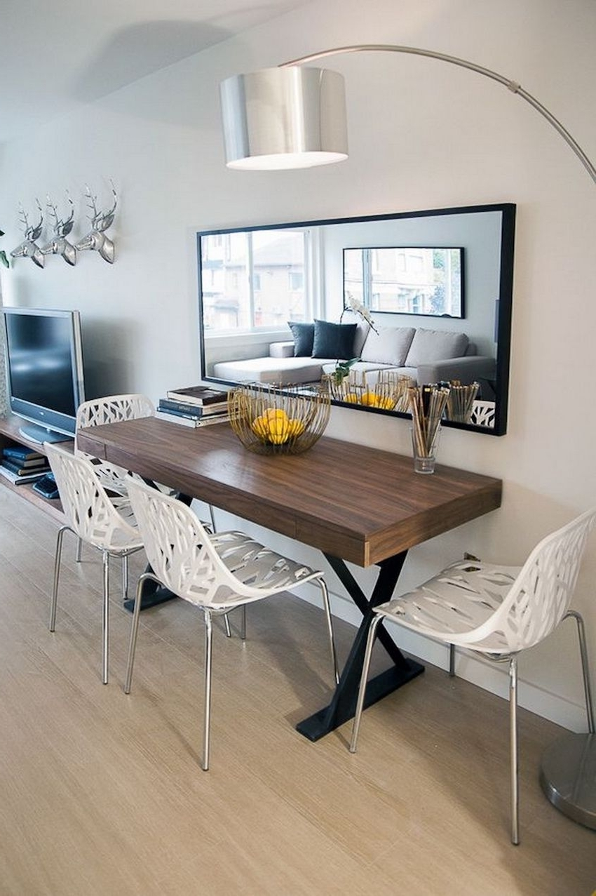 Apartment Throughout Popular Carly Rectangle Dining Tables (View 4 of 25)
