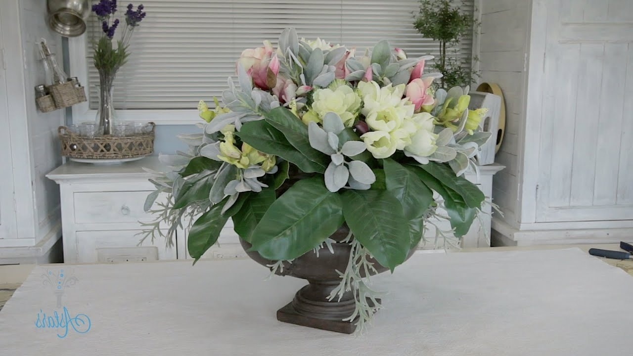 Artificial Floral Arrangements For Dining Tables Pertaining To 2017 Flowers & Floristry Tutorial: Round Dining Table Artificial (Gallery 2 of 25)