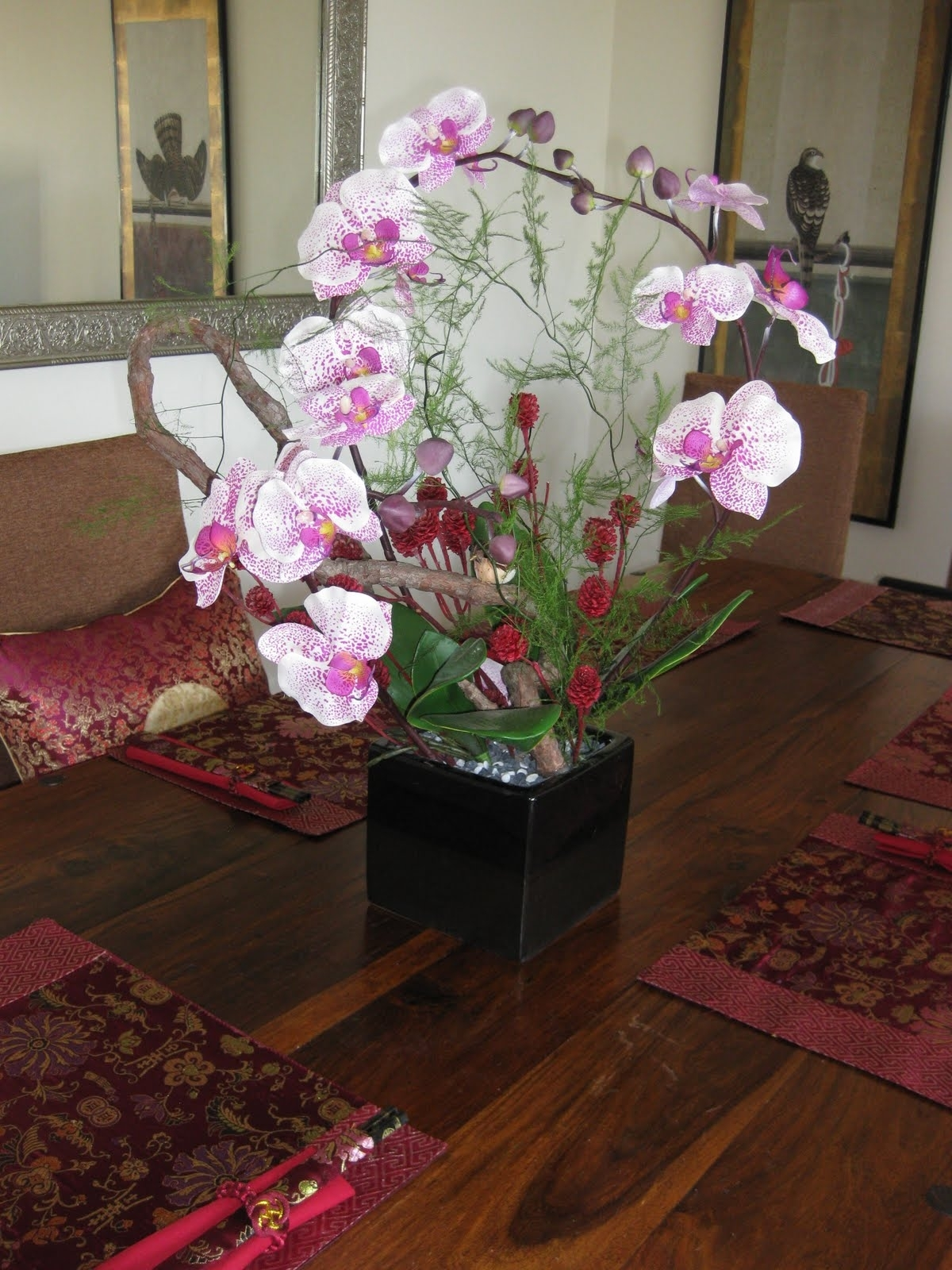 Artificial Floral Arrangements For Dining Tables With Latest New Silk Flower Arrangement On Dining Room Table 8 (Gallery 16 of 25)