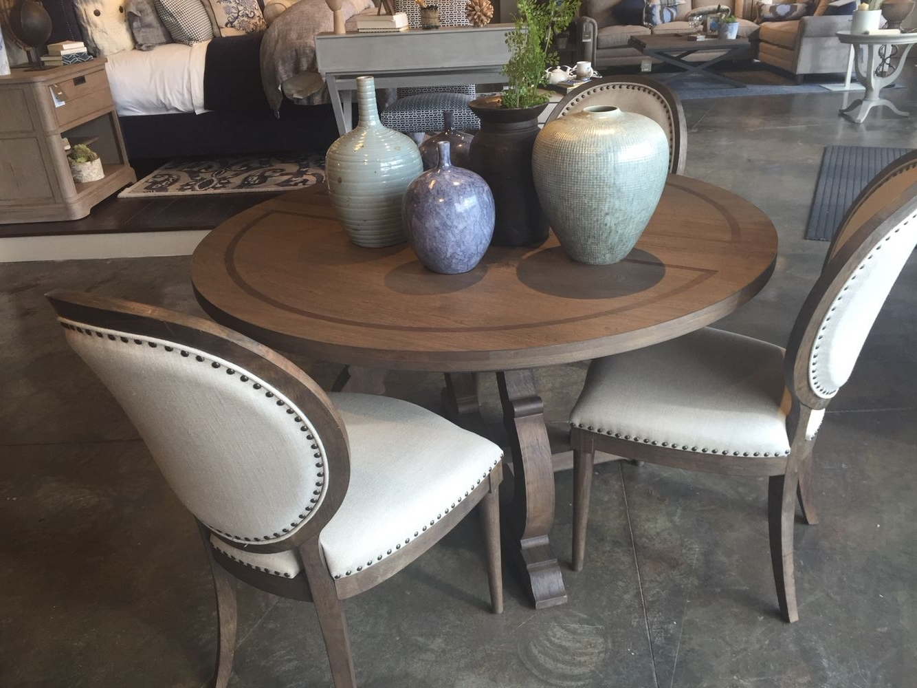 Artisanal Dining Tables Within Most Current Bassett – Artisanal Round Table, Chadwick Brown (View 6 of 25)