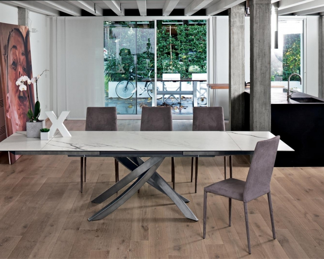 Artistico Marble Extending Dining Table (Gallery 1 of 25)