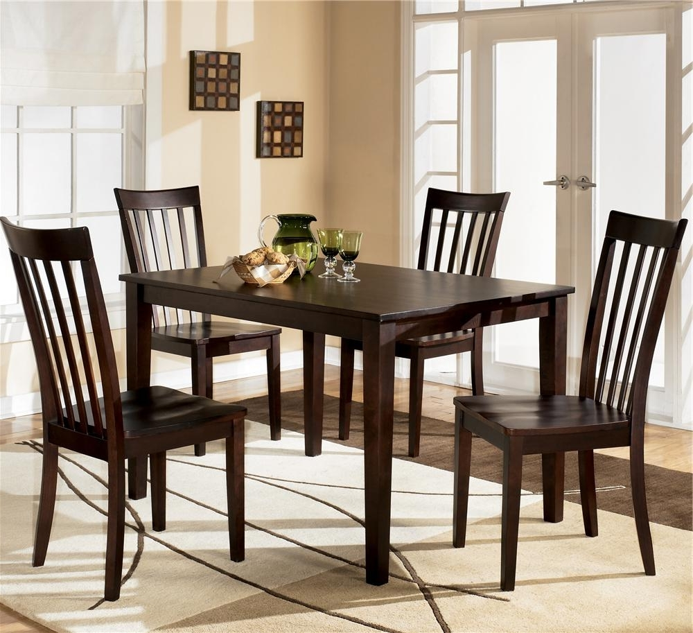 Ashley Furniture Hyland D258 225 5 Piece Dining Set With Rectangular Regarding Trendy Rectangular Dining Tables Sets (View 2 of 25)