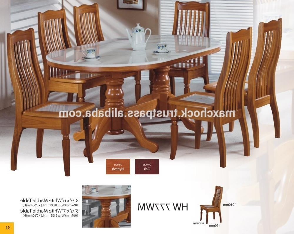 Asian Dining Tables Within Preferred Modern Asian Design Solid Wood Dining Table & Chairs With Natural (View 6 of 25)