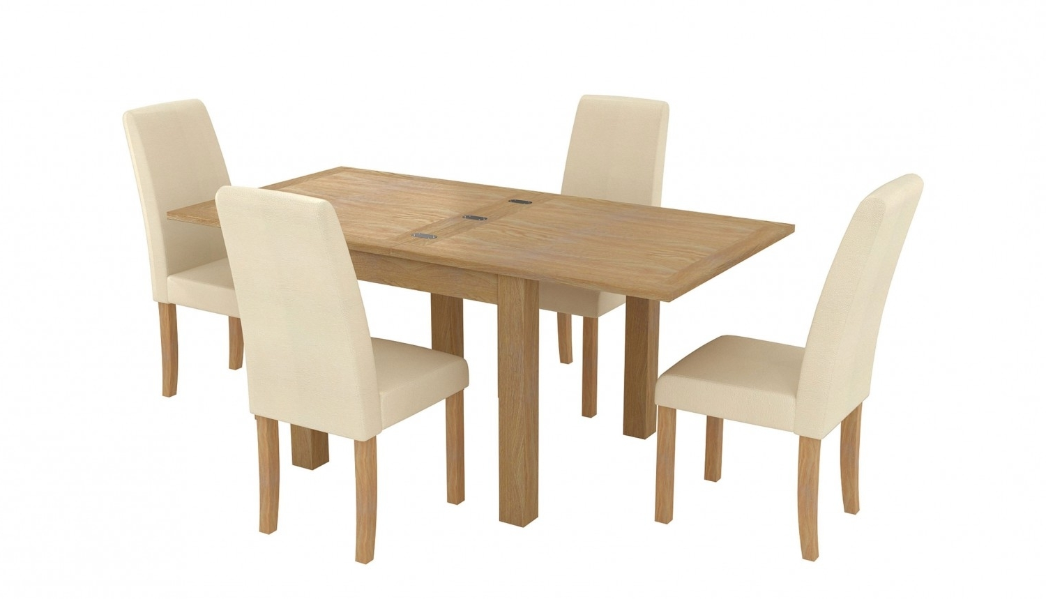 Aspen 900 1800 Flip Top Table & 4 Baltimore Chairs In Most Current Flip Top Oak Dining Tables (View 3 of 25)