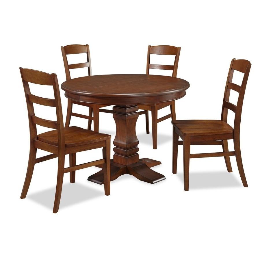 Aspen Dining Tables For 2018 Shop Home Styles Aspen Rustic Cherry Dining Set With Round Dining (View 18 of 25)