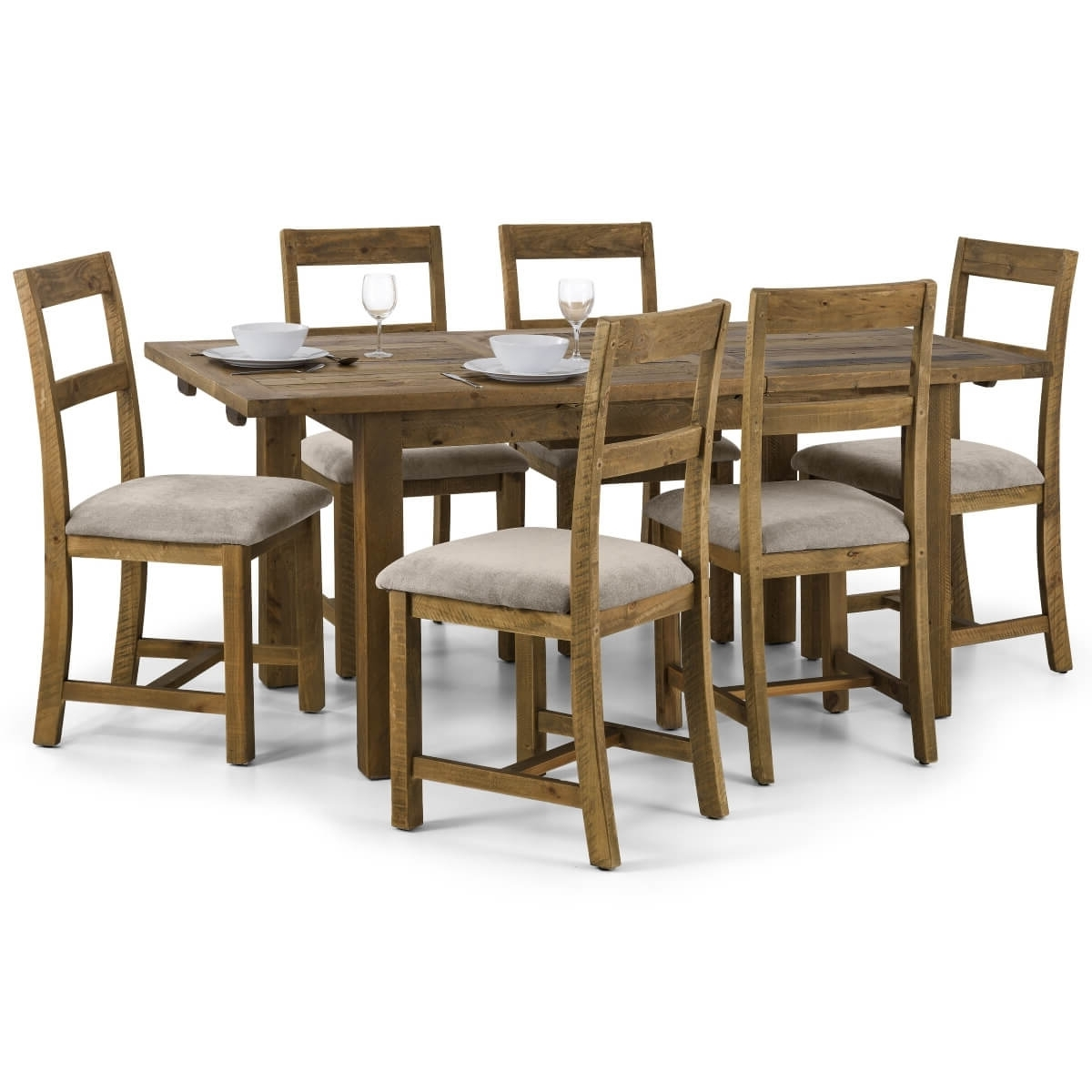 Aspen Dining Tables Regarding Most Popular Dining Set – Aspen Extending Dining Table, 4 Chairs In Pine Asp016 (Gallery 9 of 25)