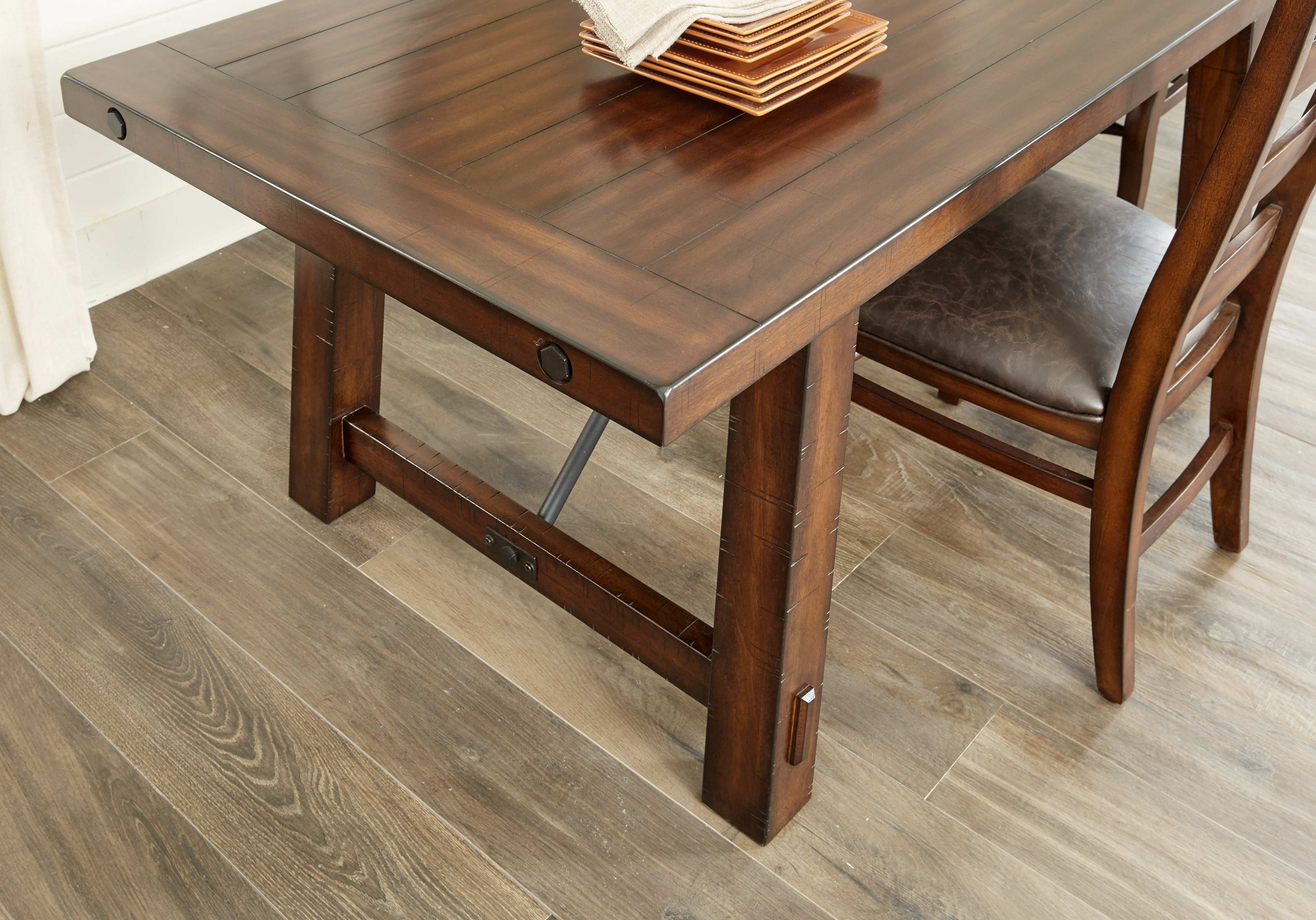 Aspen Grove Cherry Rectangle Dining Table – Dining Tables Dark Wood Regarding Preferred Aspen Dining Tables (View 11 of 25)