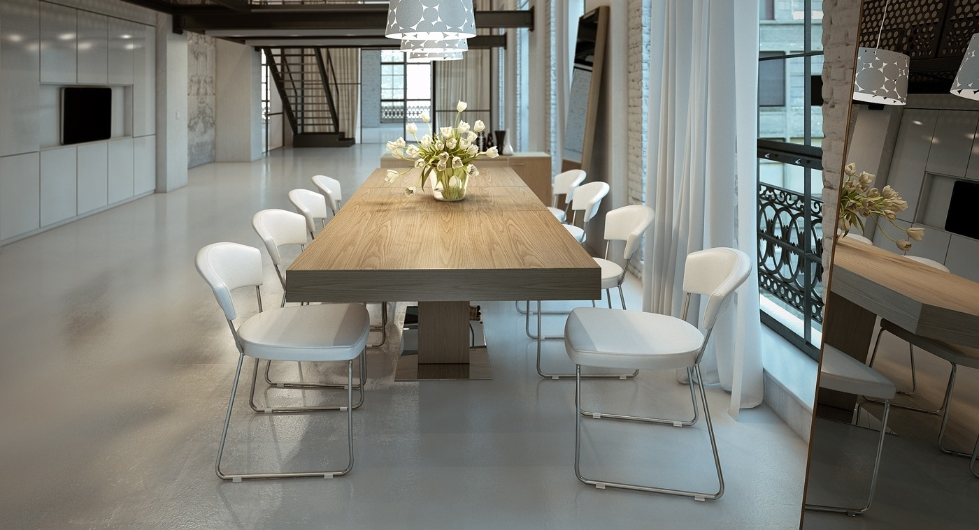 Astor Extendable Modern Dining Table For Most Current Contemporary Dining Furniture (View 3 of 25)