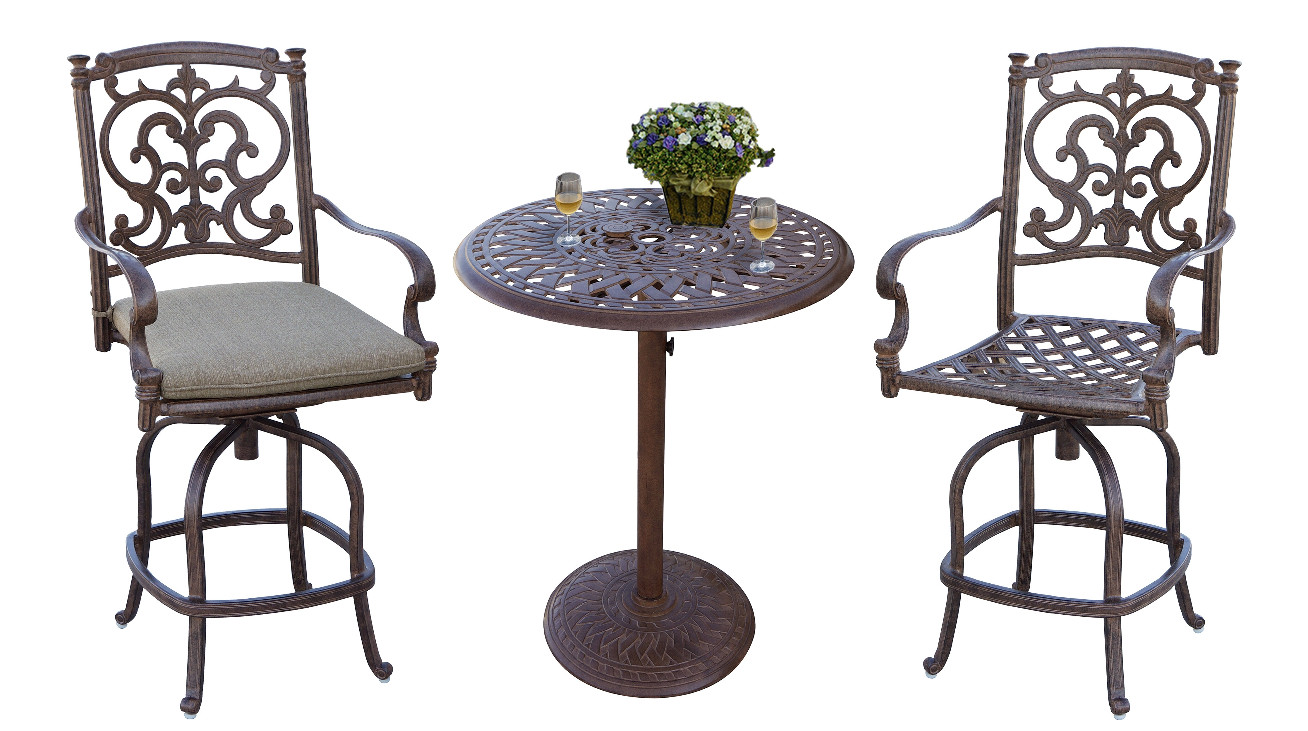 Astoria Grand Palazzo Sasso 3 Piece Counter Height Bar Dining Set Pertaining To Newest Palazzo 3 Piece Dining Table Sets (View 16 of 25)