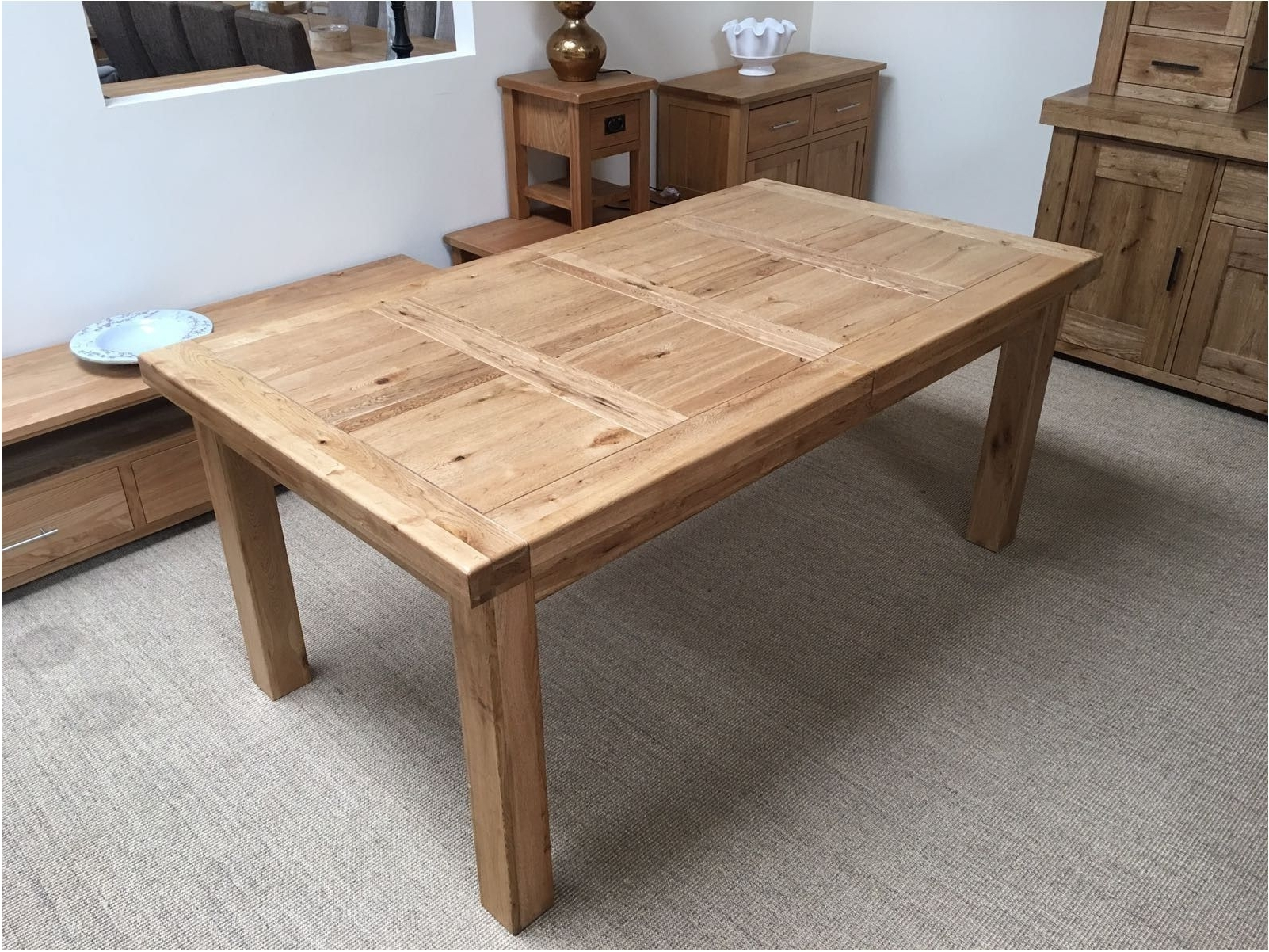 Astounding Oxford Solid Oak Extending Dining Table Oak Furniture With Regard To Fashionable Round Oak Extendable Dining Tables And Chairs (View 3 of 25)