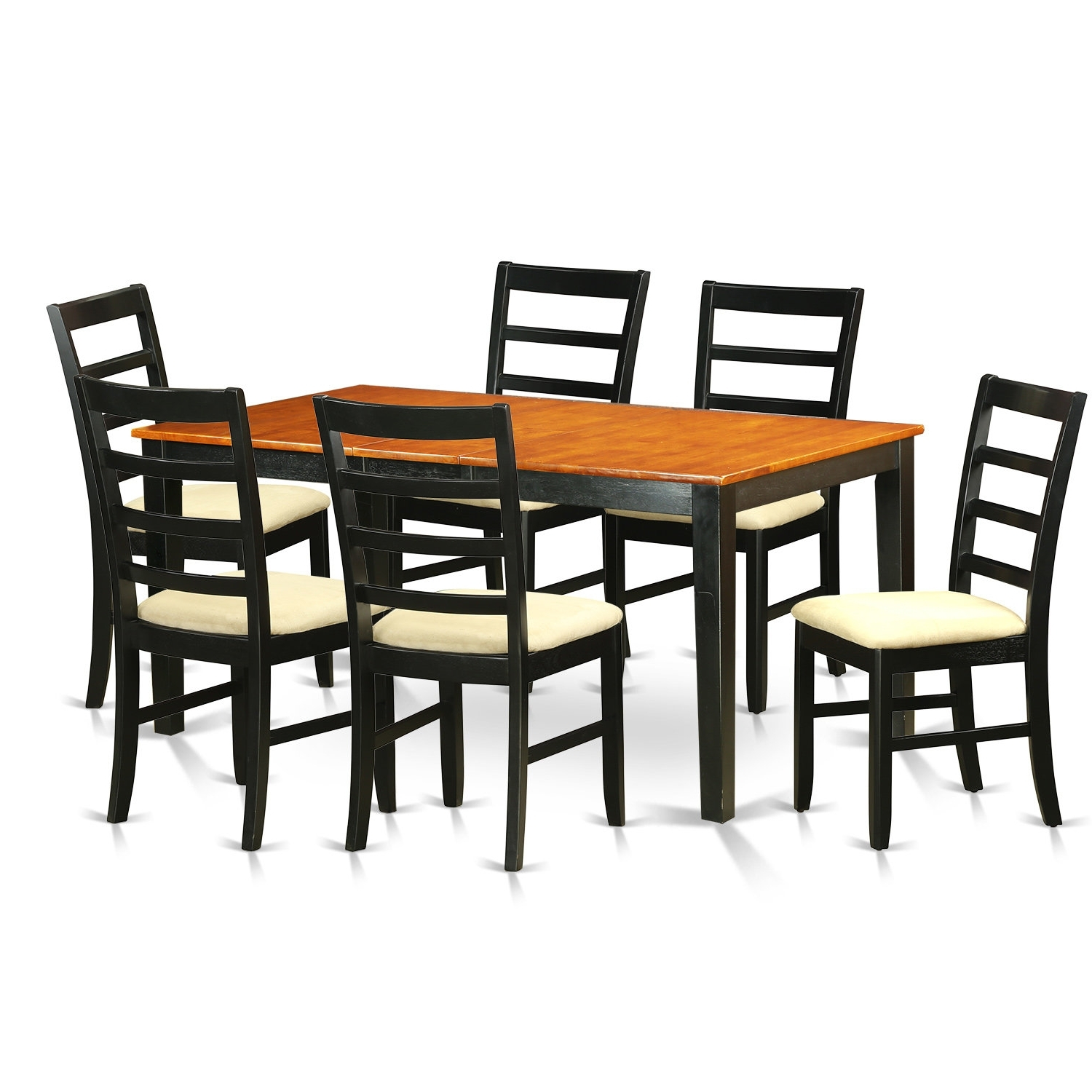 August Grove Pillar 7 Piece Wood Dining Set (View 3 of 25)
