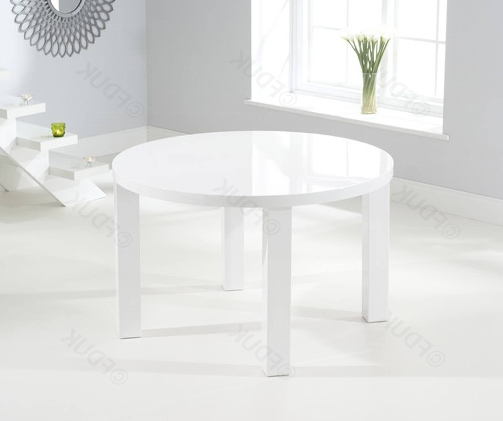 Ava Medium Round High Gloss Dining Table Only Pertaining To Round High Gloss Dining Tables (Gallery 15 of 25)