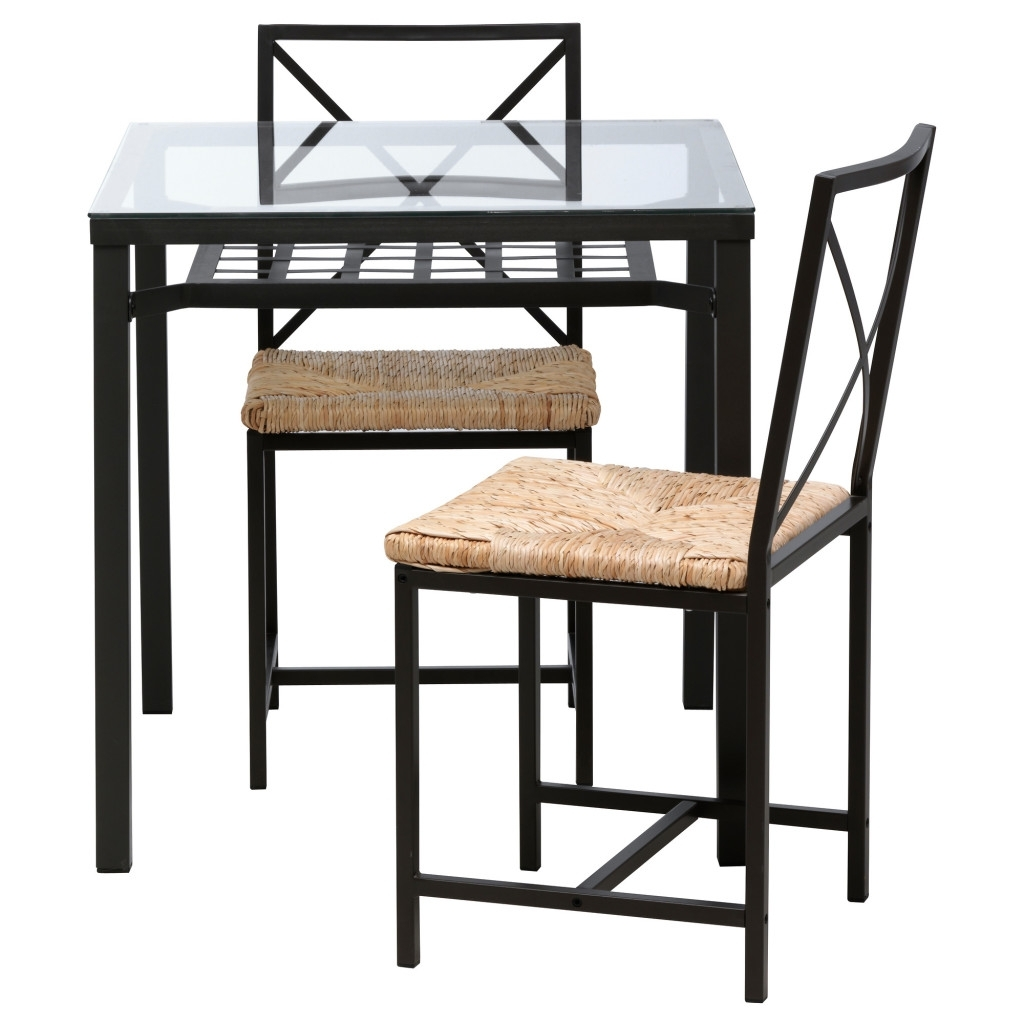 Awesome Rectangle Glass Dining Table With Dark Finish Wrought Iron For 2017 Wicker And Glass Dining Tables (View 3 of 25)