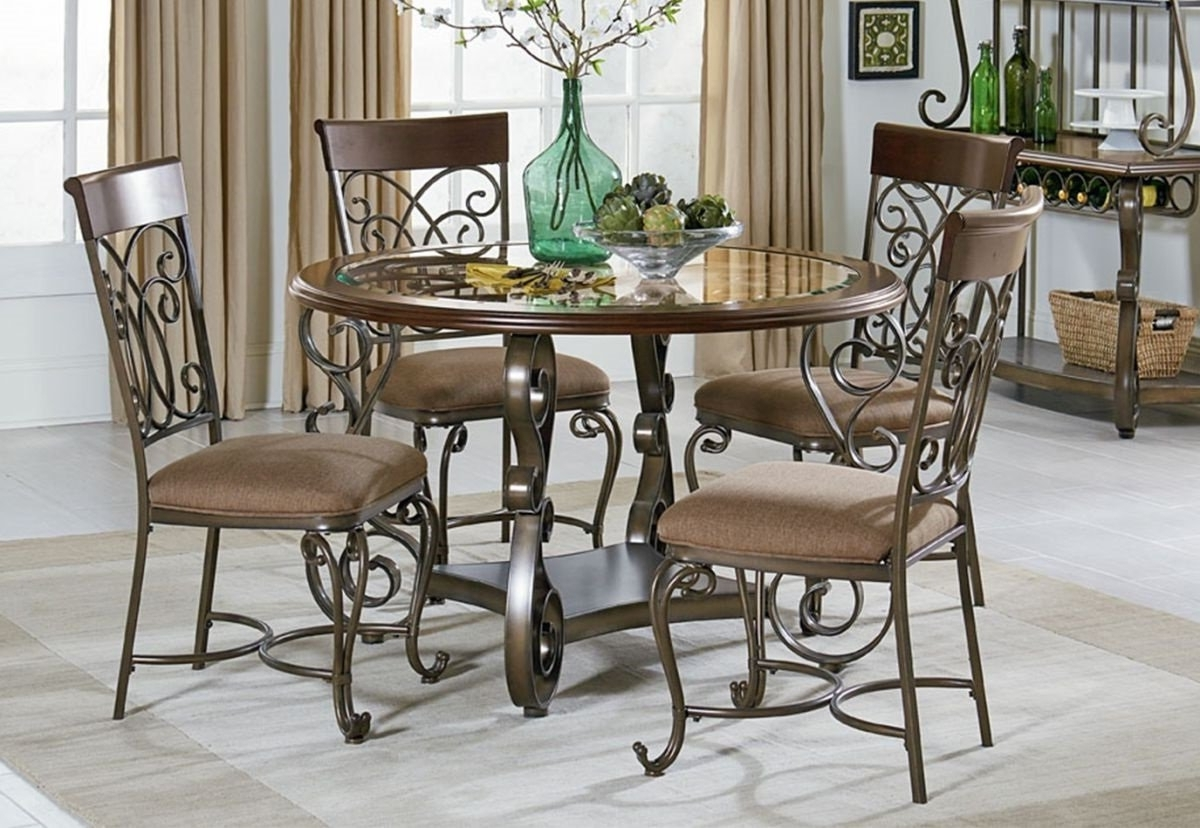 Badcock & More For Valencia 5 Piece Round Dining Sets With Uph Seat Side Chairs (View 7 of 25)