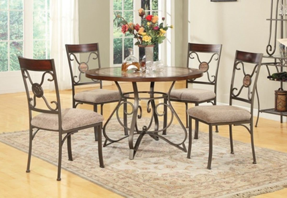 Badcock & More Regarding Popular Valencia 5 Piece Round Dining Sets With Uph Seat Side Chairs (View 7 of 25)