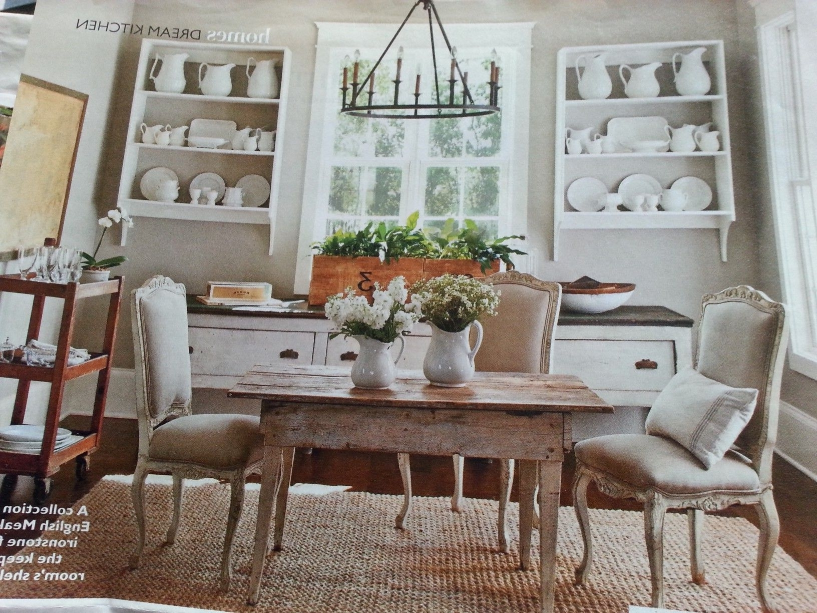 Bale 7 Piece Dining Sets With Dom Side Chairs Pertaining To Widely Used Pinpattie Elliott White On Farmhouse In The Country –Three In (View 15 of 25)