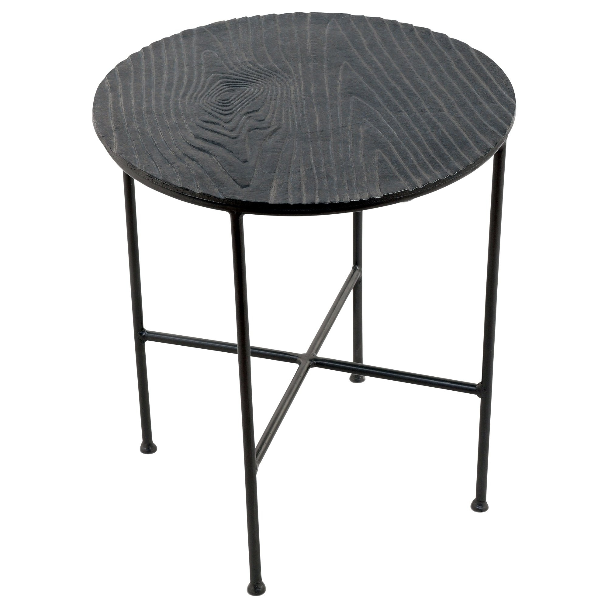 Bale Rustic Grey Dining Tables Throughout Well Known Shop Renwil Bale Grey Aluminum Round Accent Table – Free Shipping (View 6 of 25)